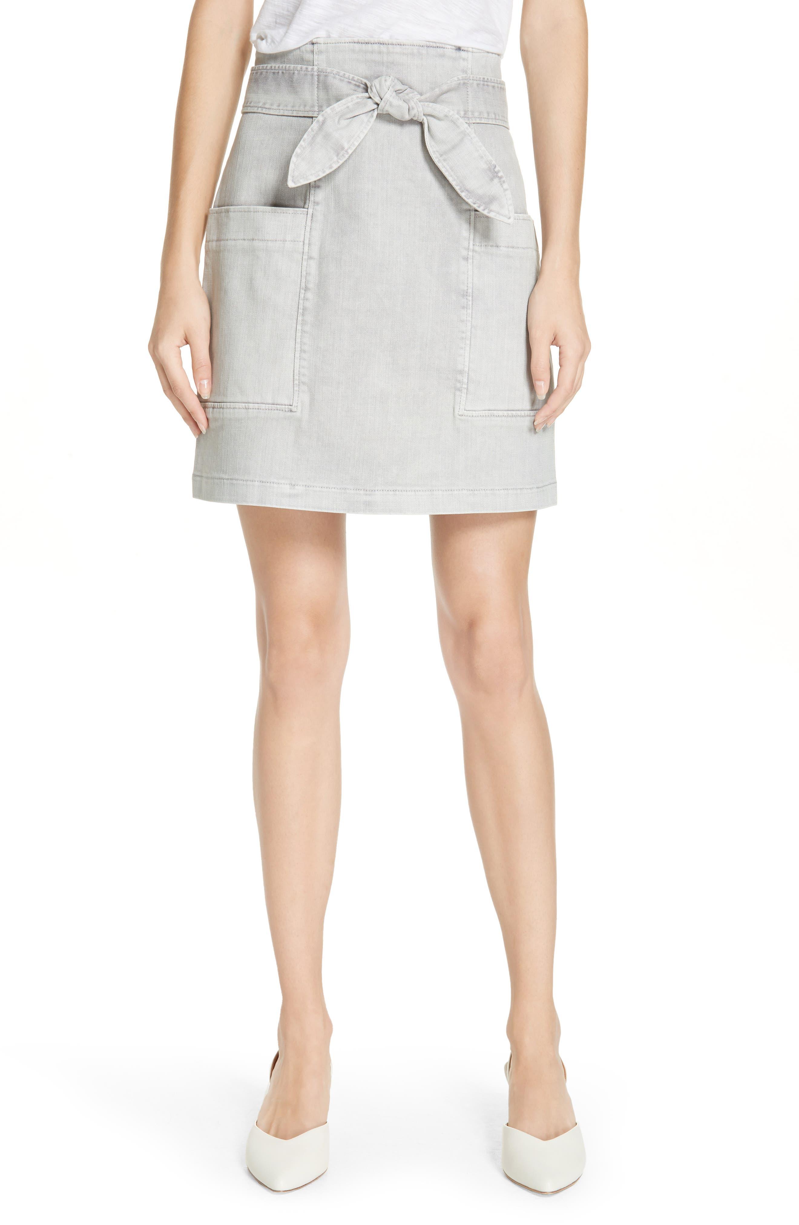 La Vie Rebecca Taylor Denim Skirt, Grey