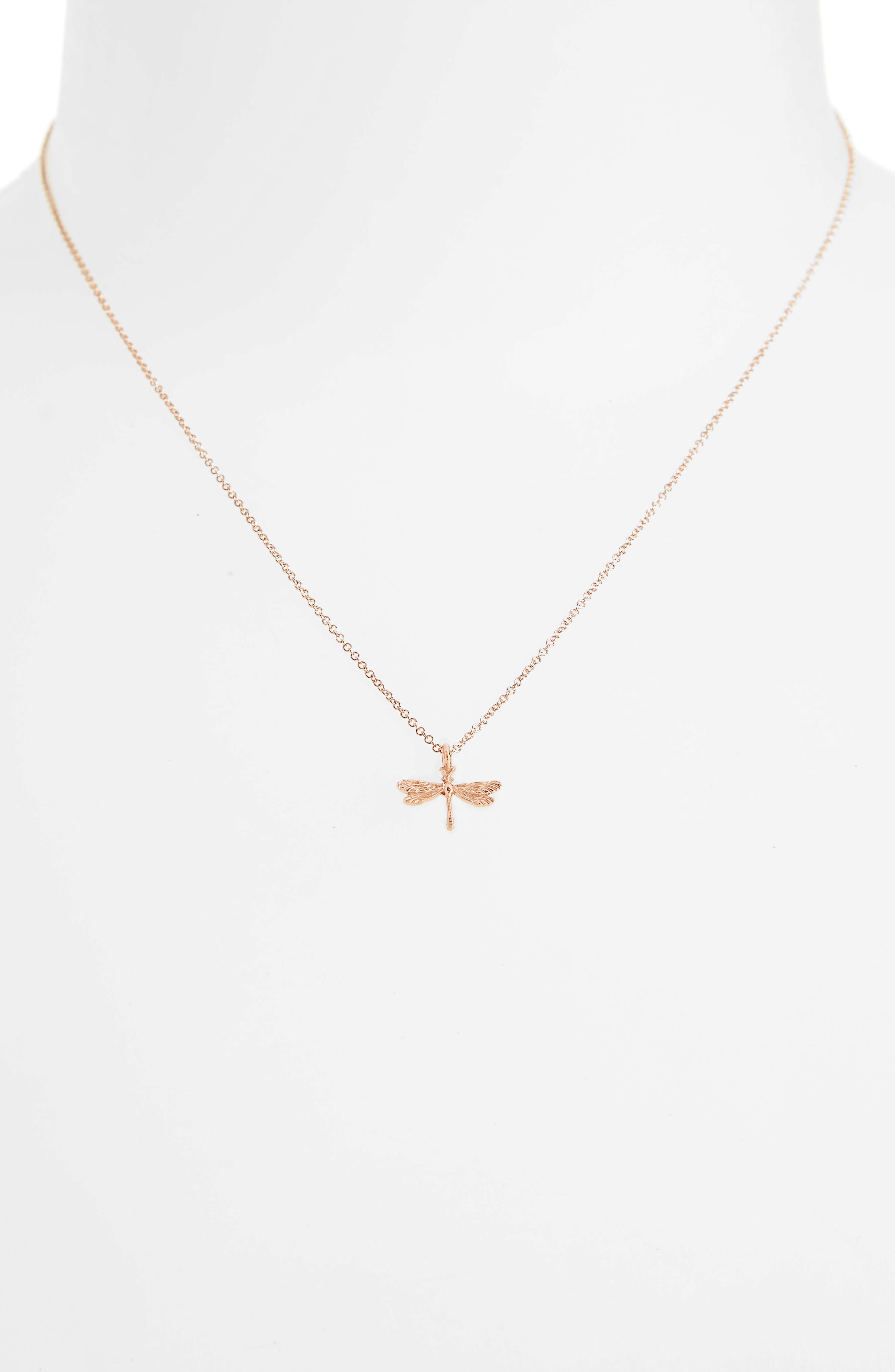 Friends Forever Dragonfly Pendant Necklace,                             Alternate thumbnail 2, color,                             650