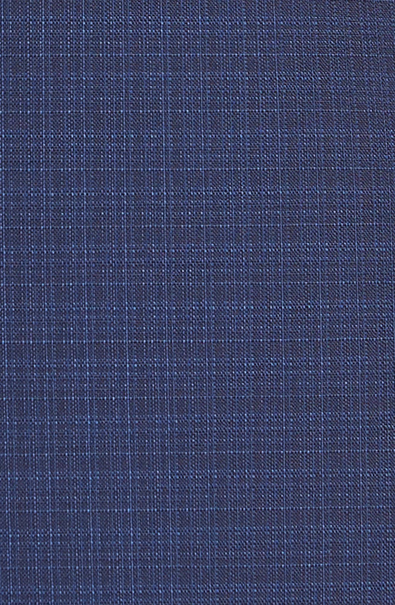 Huge/Genius Trim Fit Plaid Wool Suit,                             Alternate thumbnail 7, color,                             NAVY
