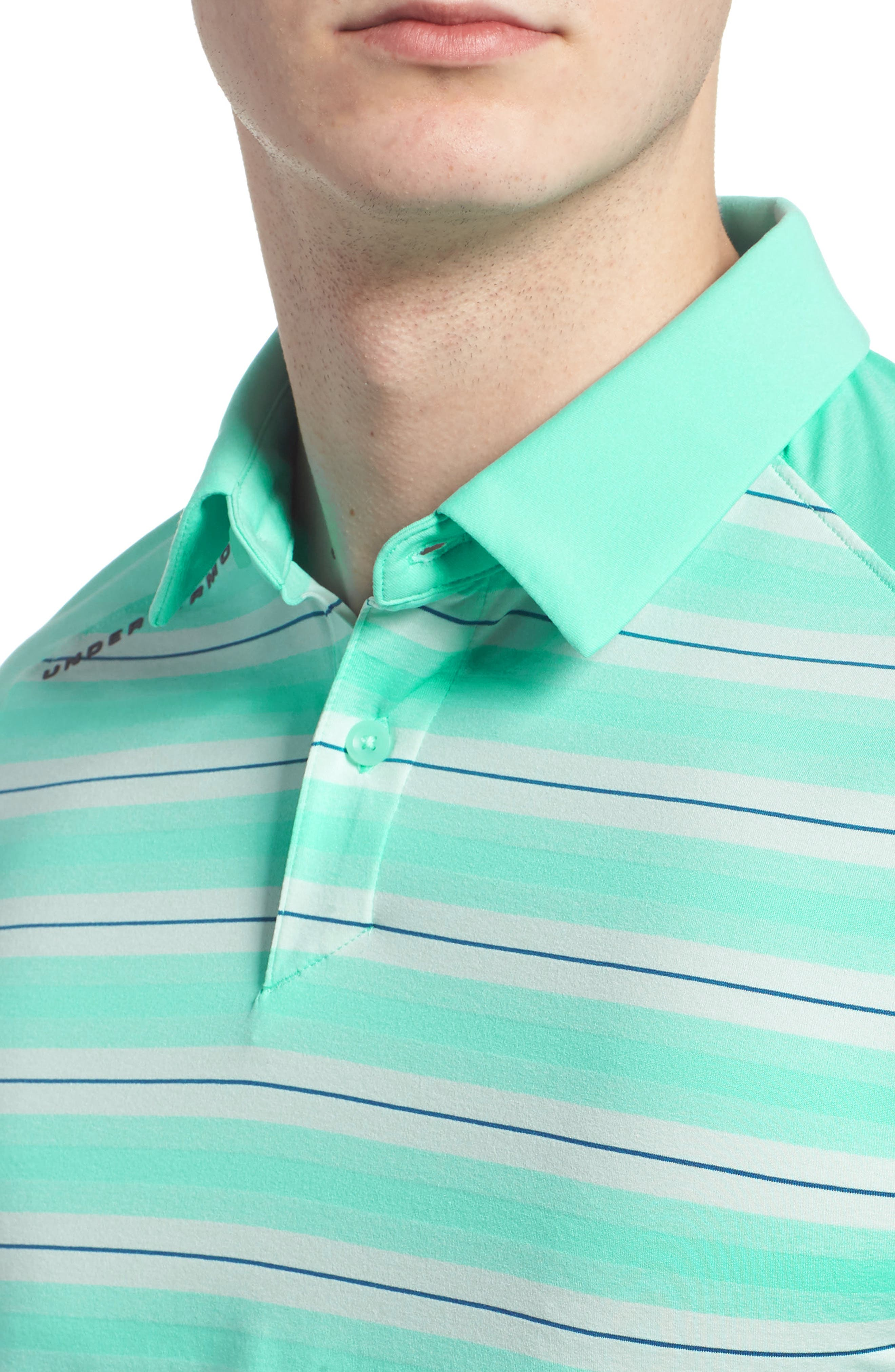 Threadborne Boundless Regular Fit Polo Shirt,                             Alternate thumbnail 4, color,                             TROPICAL TIDE/ RHINO GREY