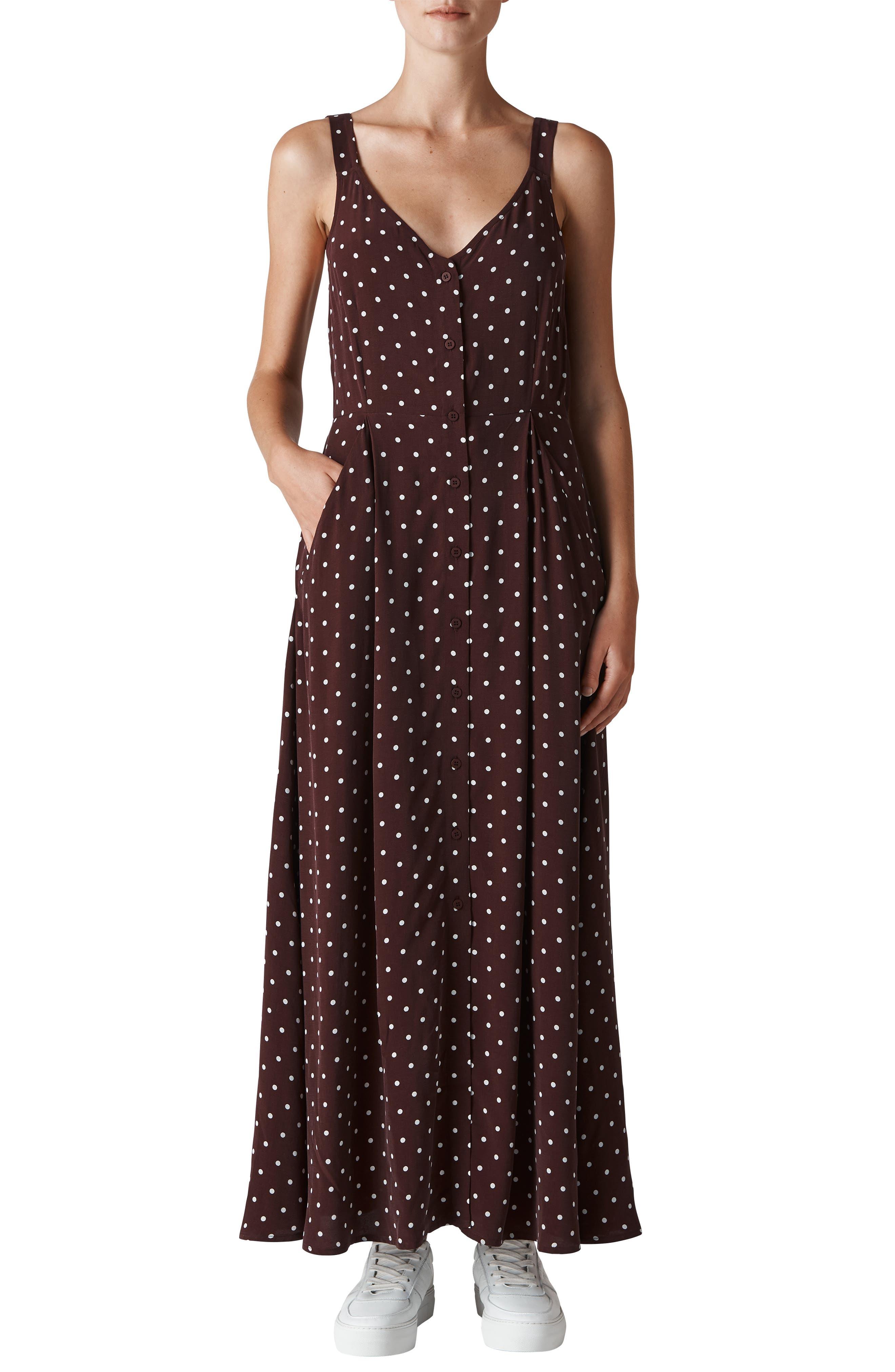 Spot Maxi Dress,                         Main,                         color, 930