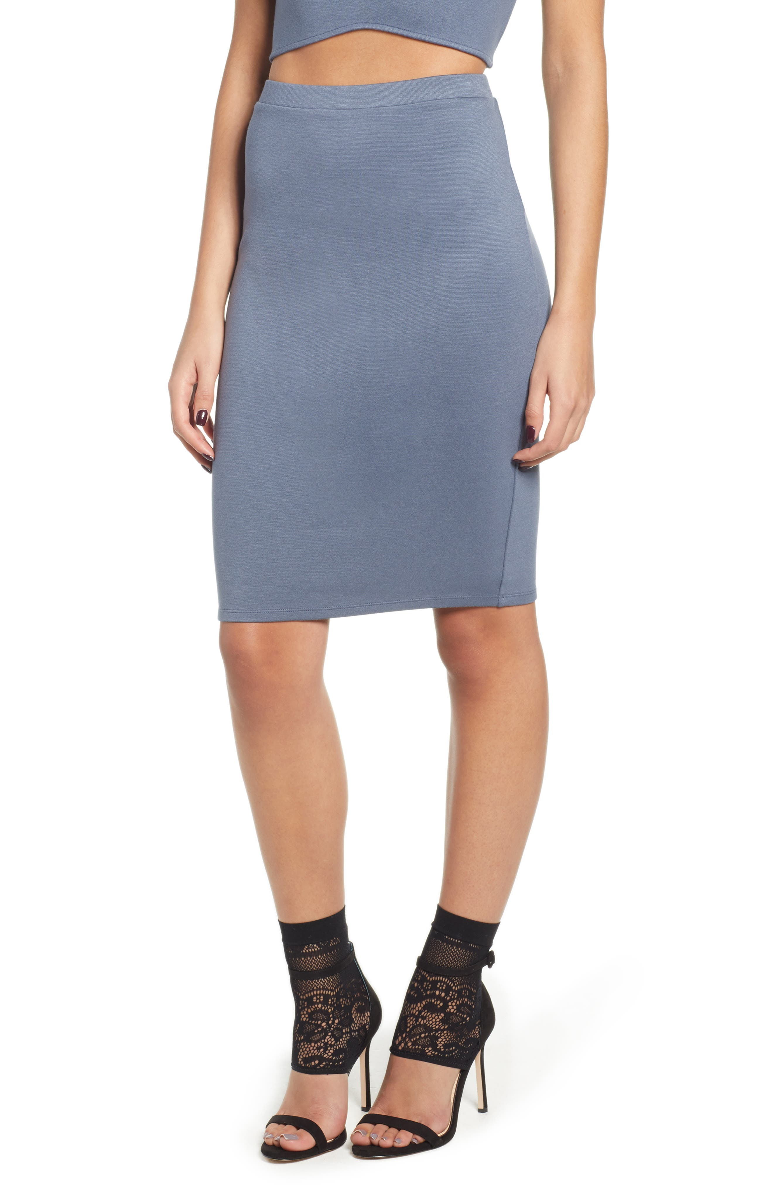Pencil Skirt,                             Main thumbnail 1, color,                             GREY GRISAILLE