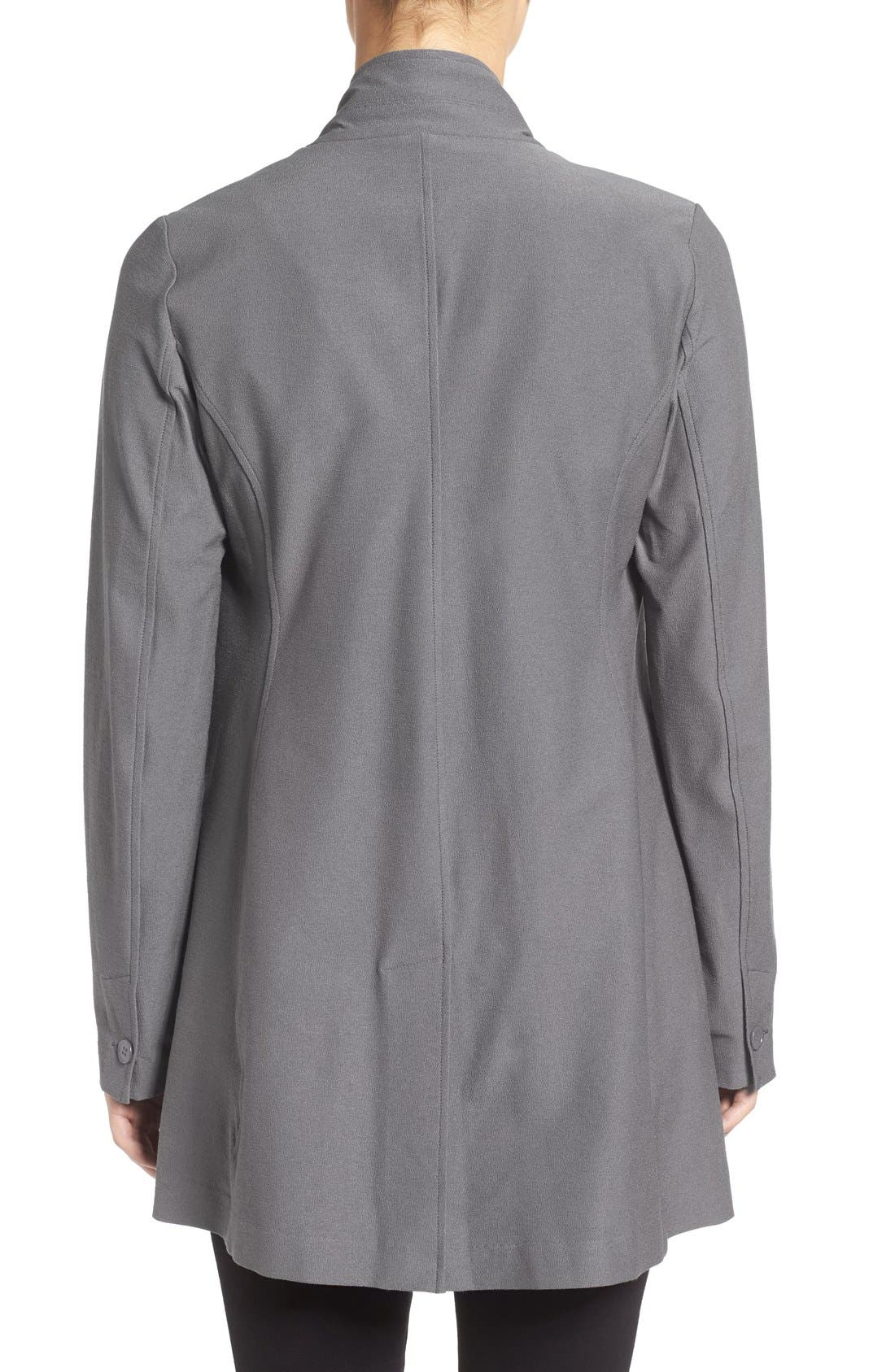 Washable Stretch Crepe Stand Collar Jacket,                             Alternate thumbnail 6, color,
