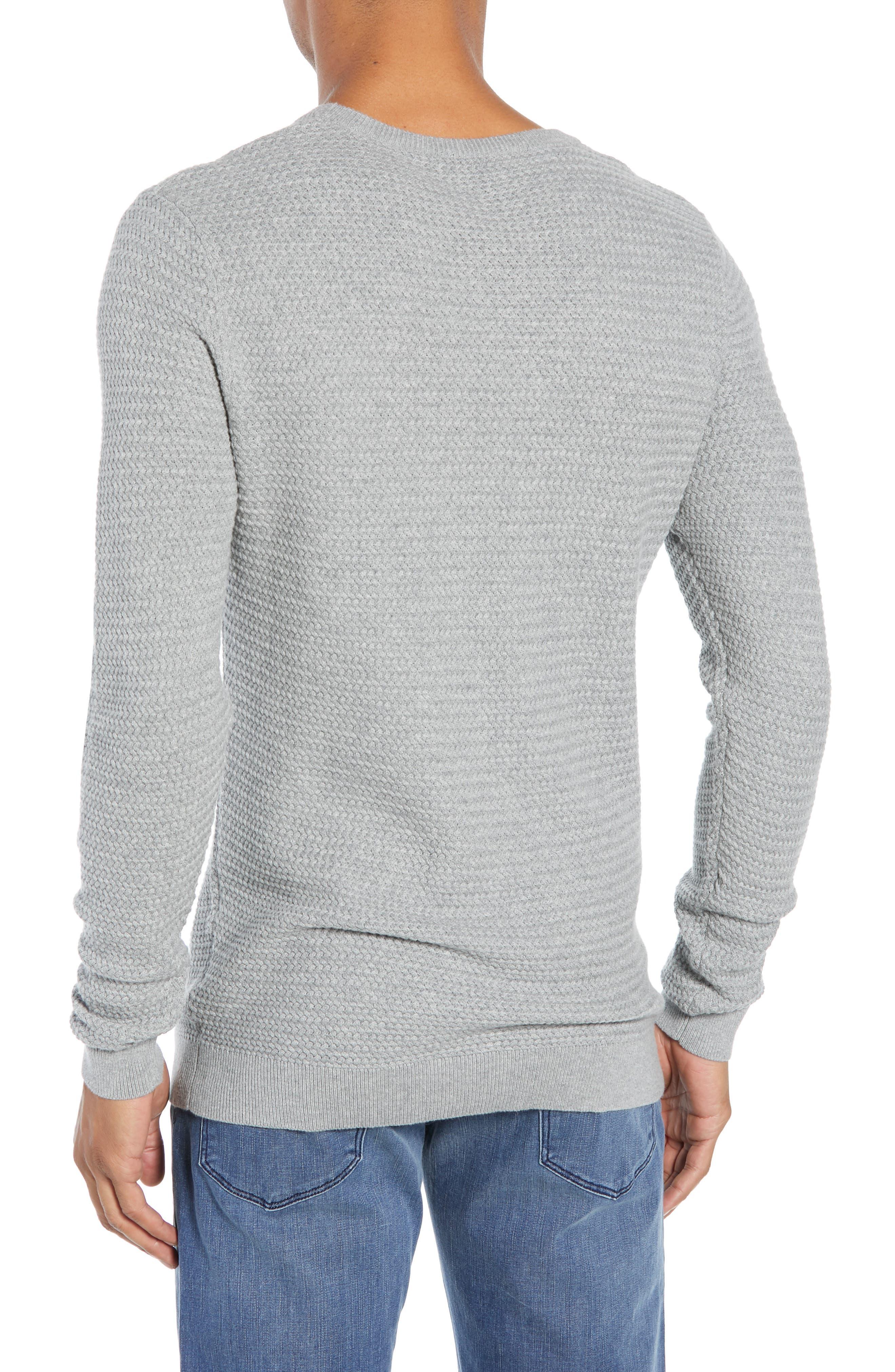 Martin Regular Fit Crewneck Sweater,                             Alternate thumbnail 2, color,                             MEDIUM GREY