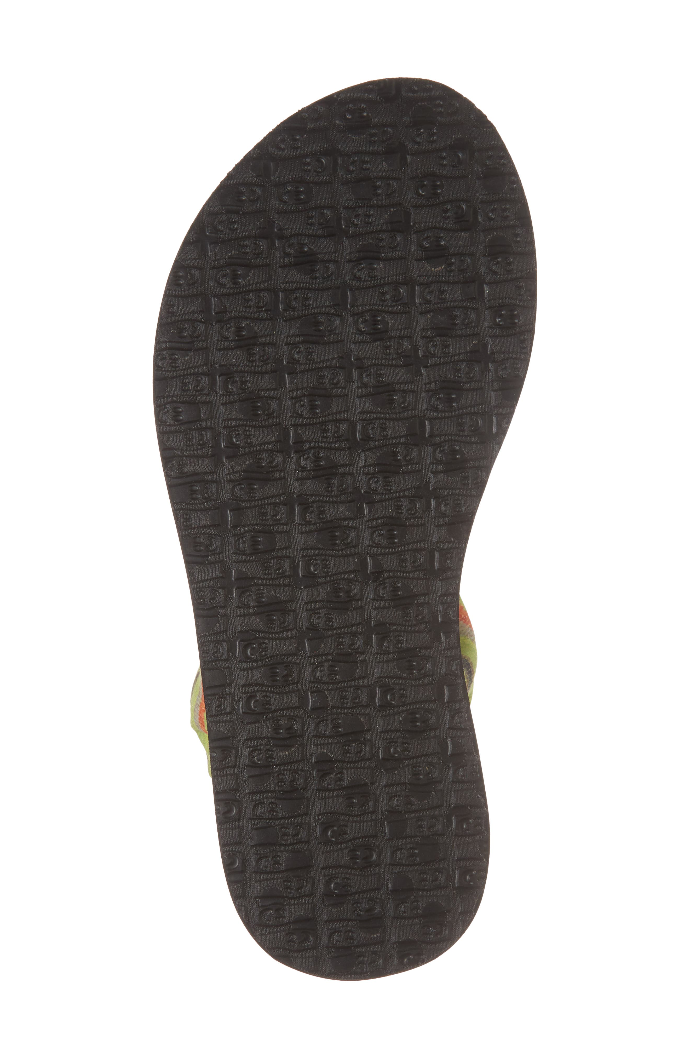 Yoga Sling Burst Sandal,                             Alternate thumbnail 6, color,                             GREEN KAUAI BLANKET