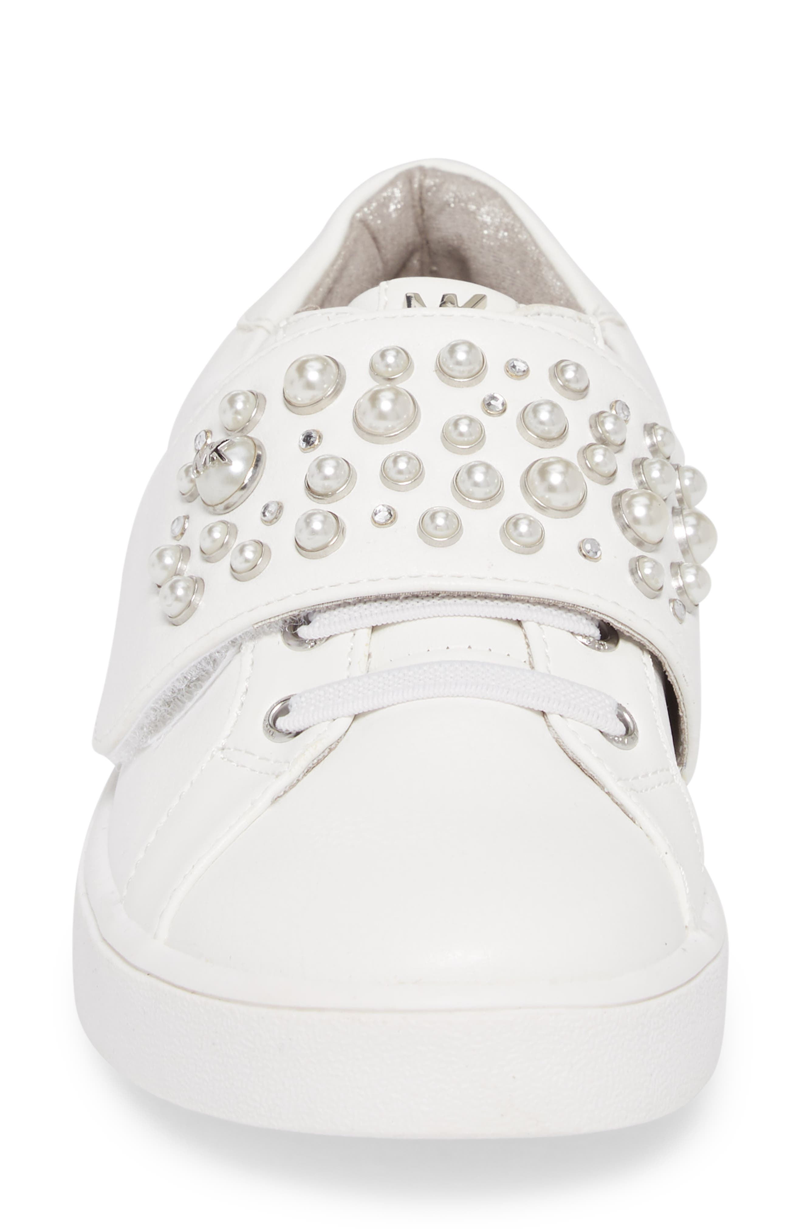 Ivy Embellished Metallic Sneaker,                             Alternate thumbnail 4, color,                             100