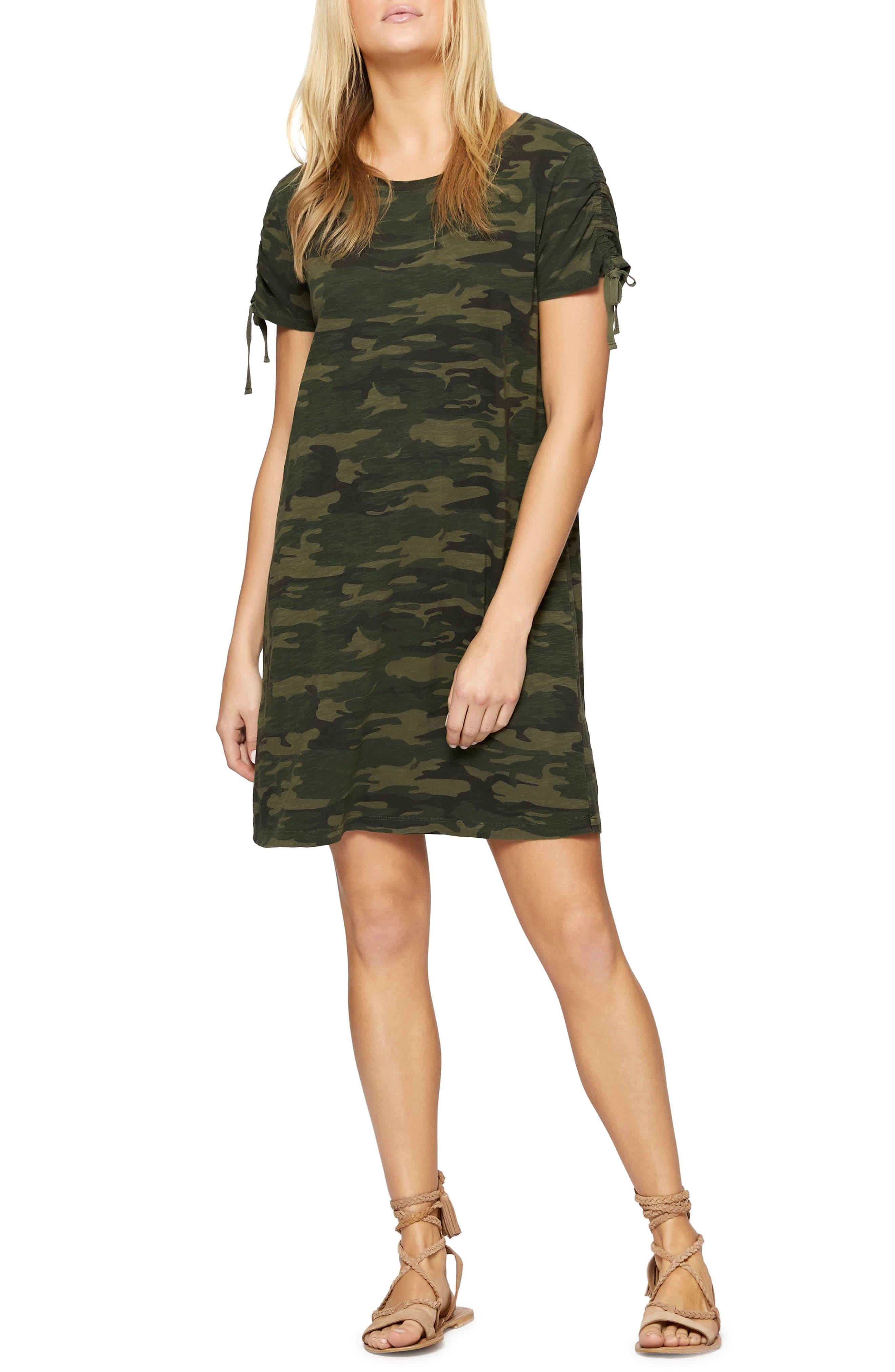 Ojai T-Shirt Dress,                             Main thumbnail 1, color,                             MOTHER NATURE CAMO