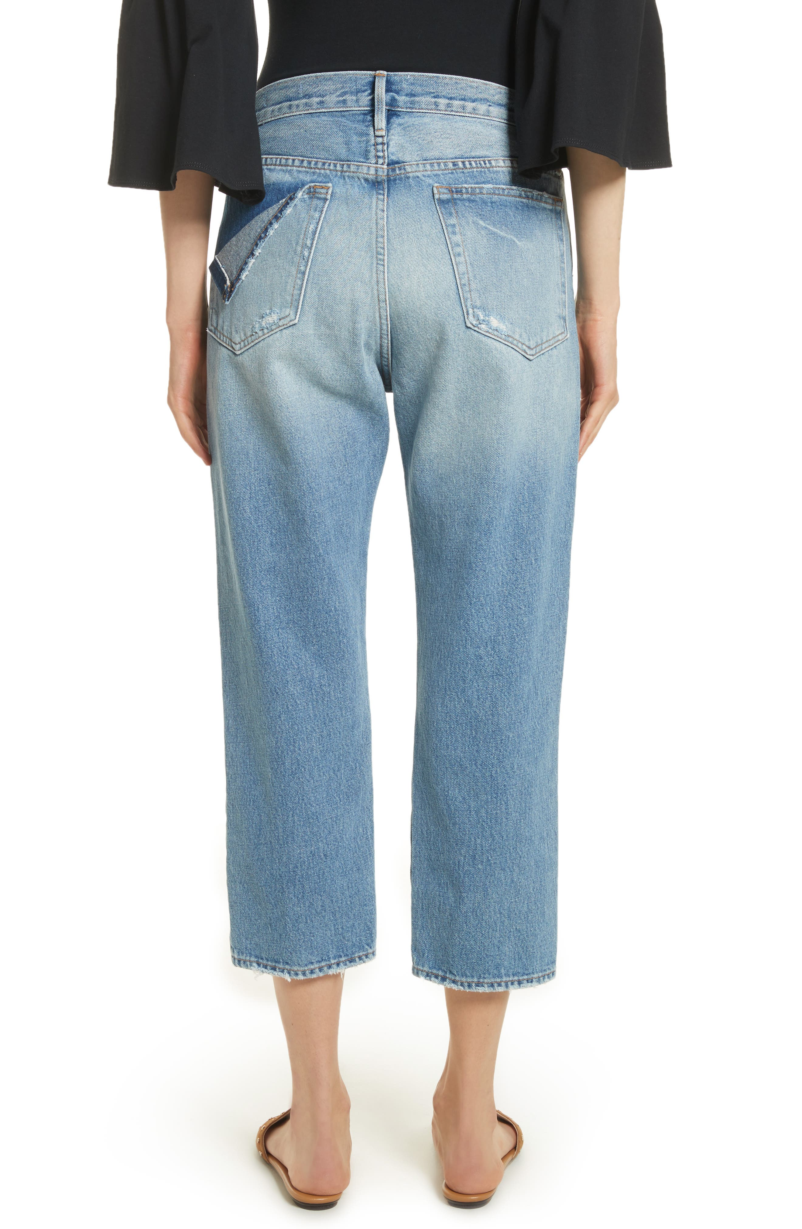 Le Stevie Distressed Crop Jeans,                             Alternate thumbnail 2, color,                             420