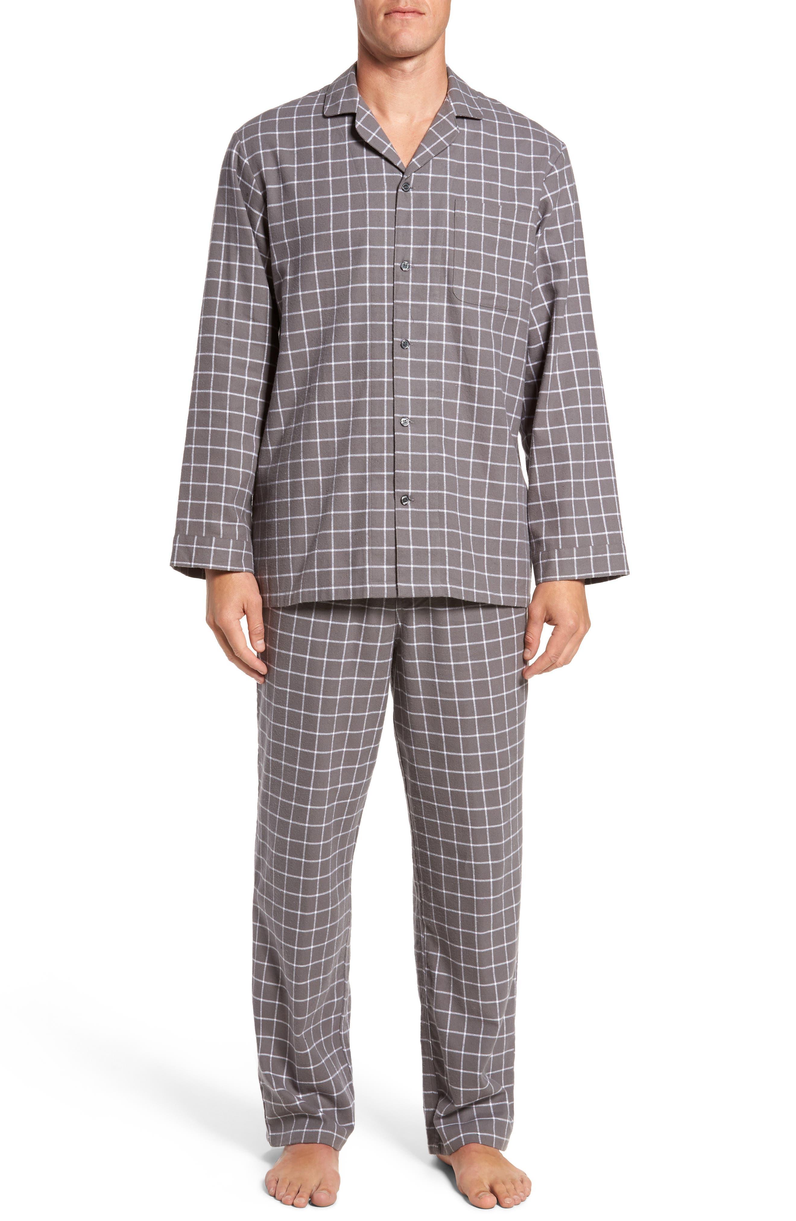 '824' Flannel Pajama Set,                             Main thumbnail 2, color,