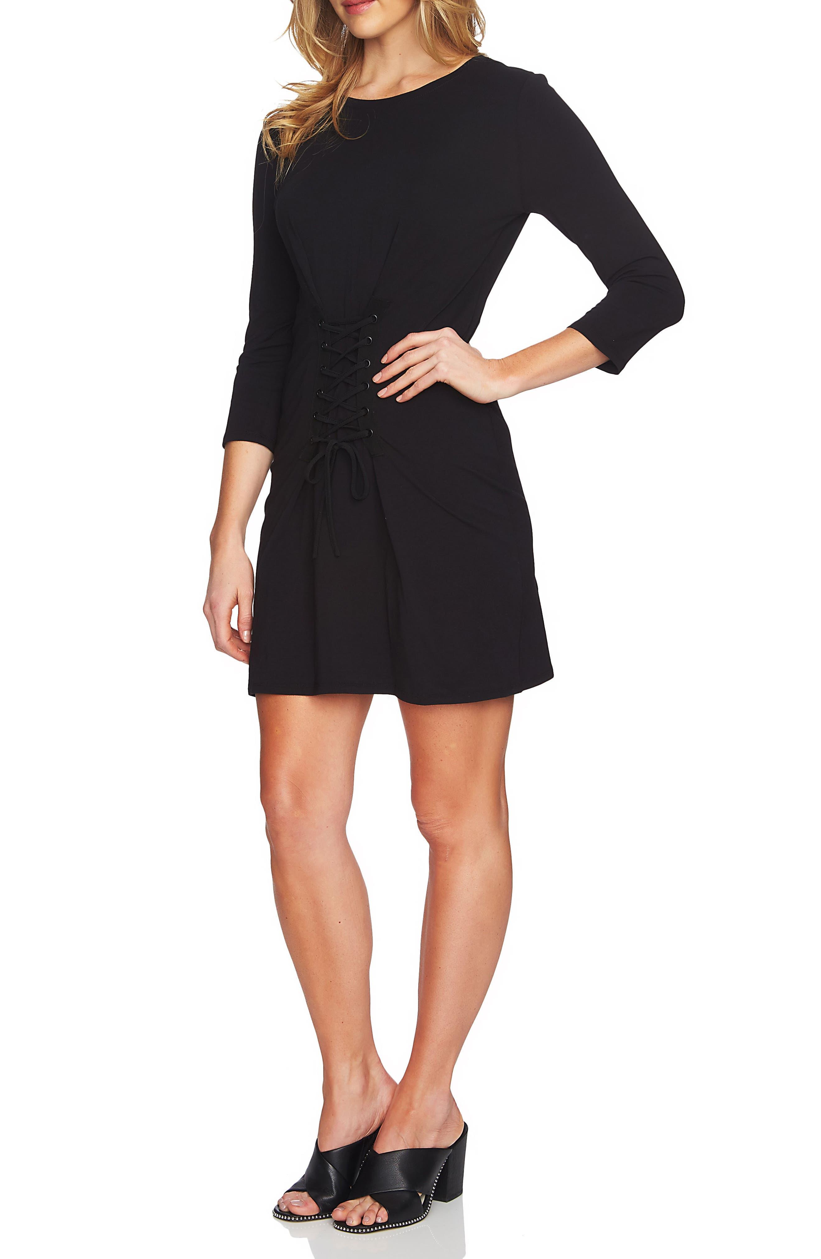 Corset Detail Knit Dress,                         Main,                         color, 006