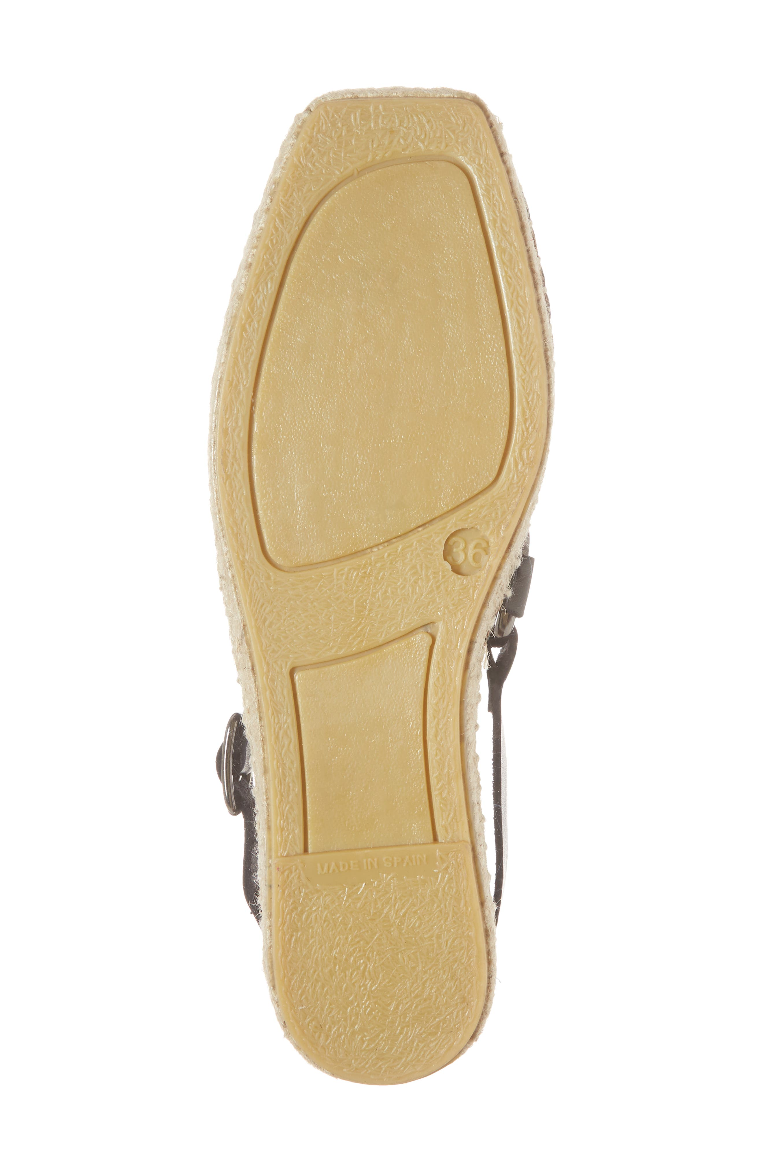 FREE PEOPLE,                             Cabo Espadrille Flat,                             Alternate thumbnail 6, color,                             001