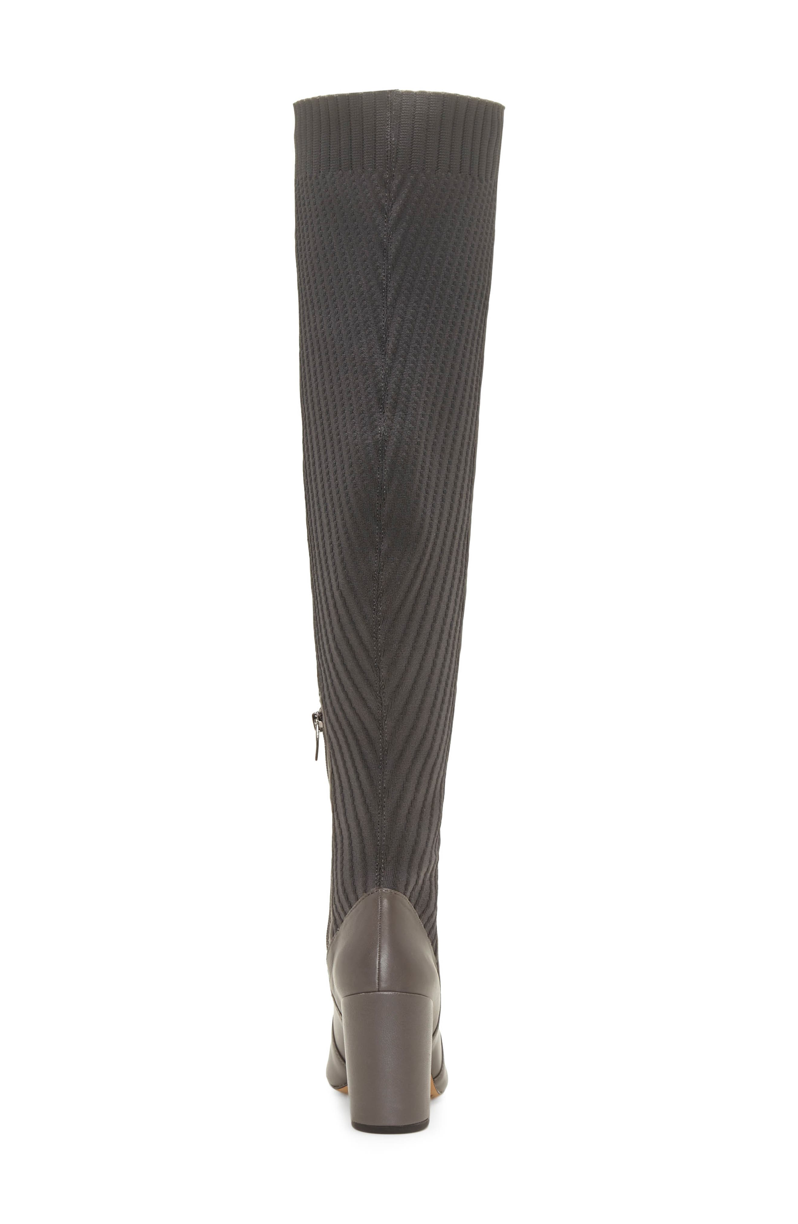 Majestie Over the Knee Boot,                             Alternate thumbnail 7, color,                             THUNDER LEATHER