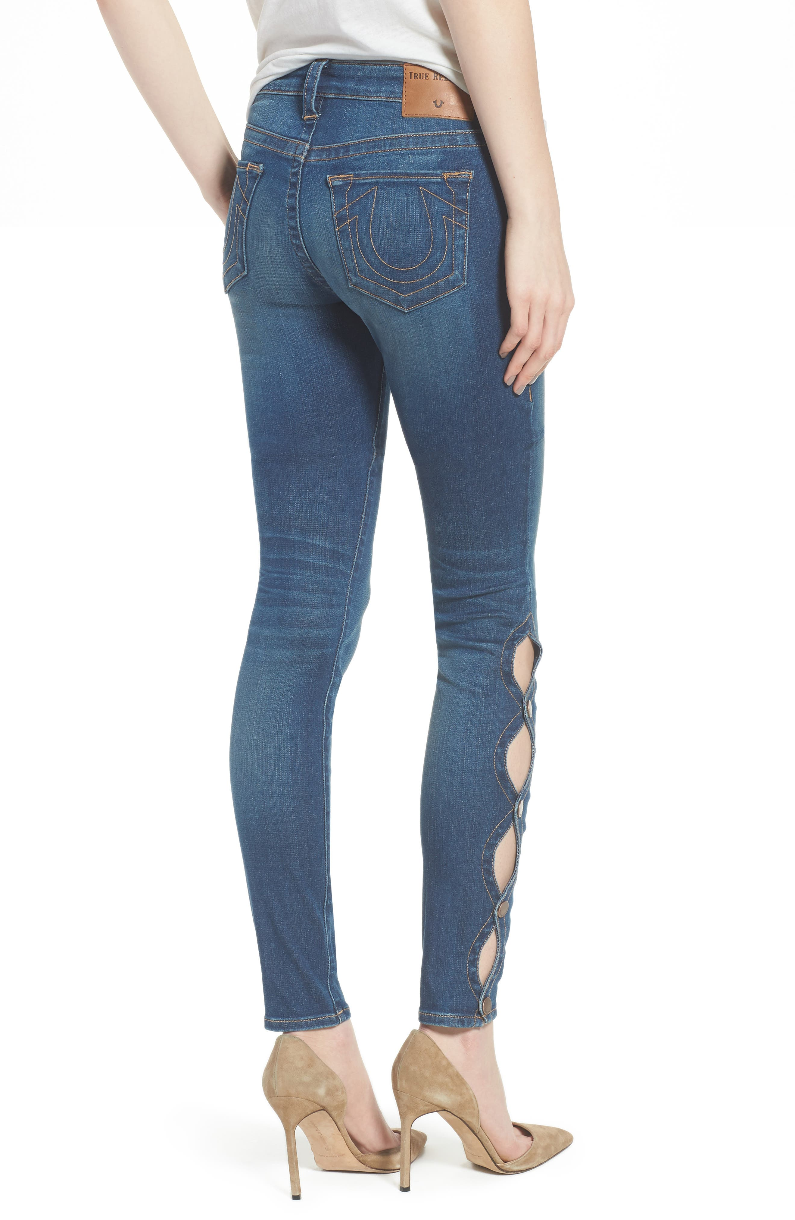 Halle Super Skinny Jeans,                             Alternate thumbnail 2, color,
