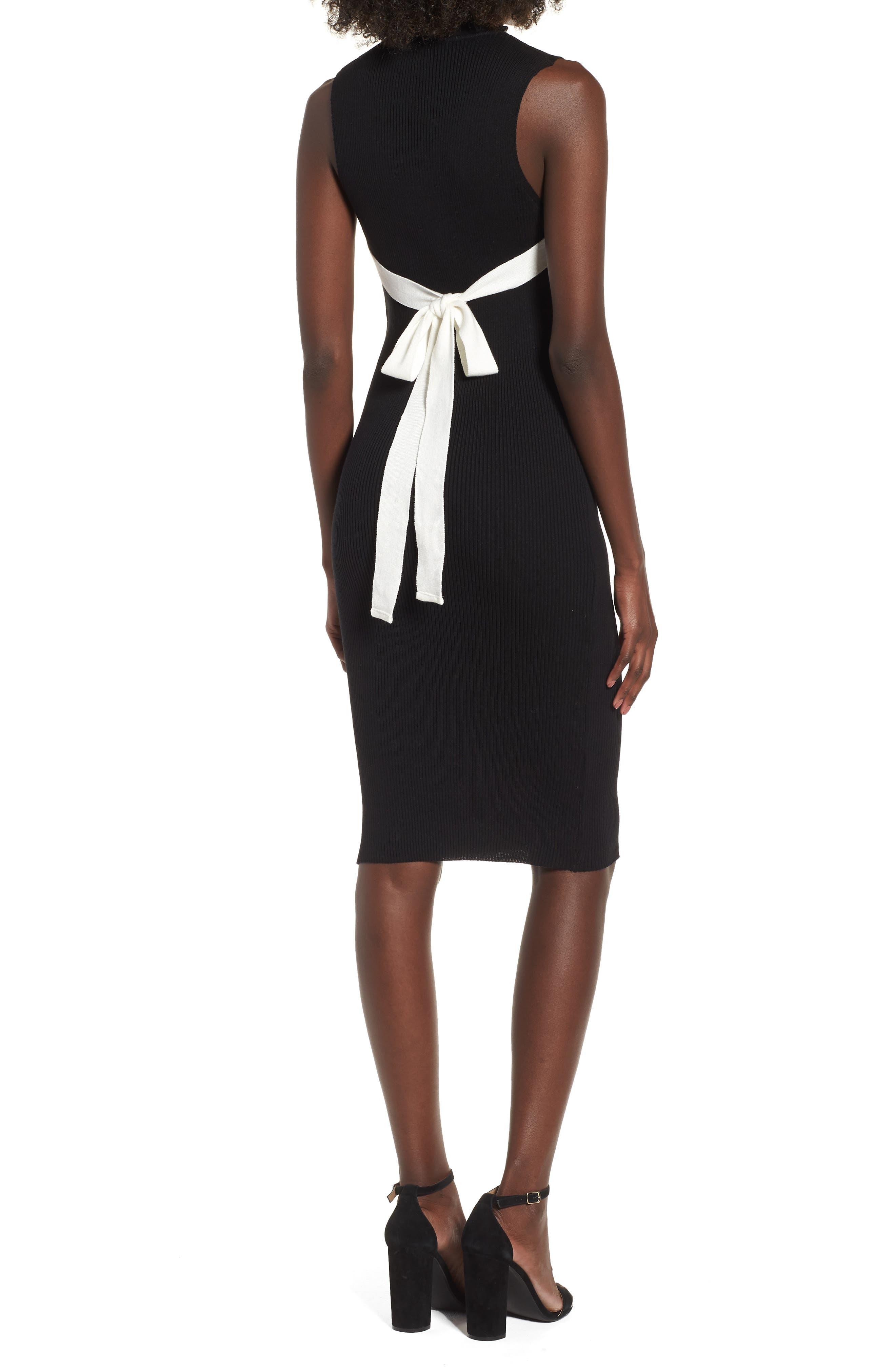 Crisscross Body-Con Dress,                             Alternate thumbnail 2, color,