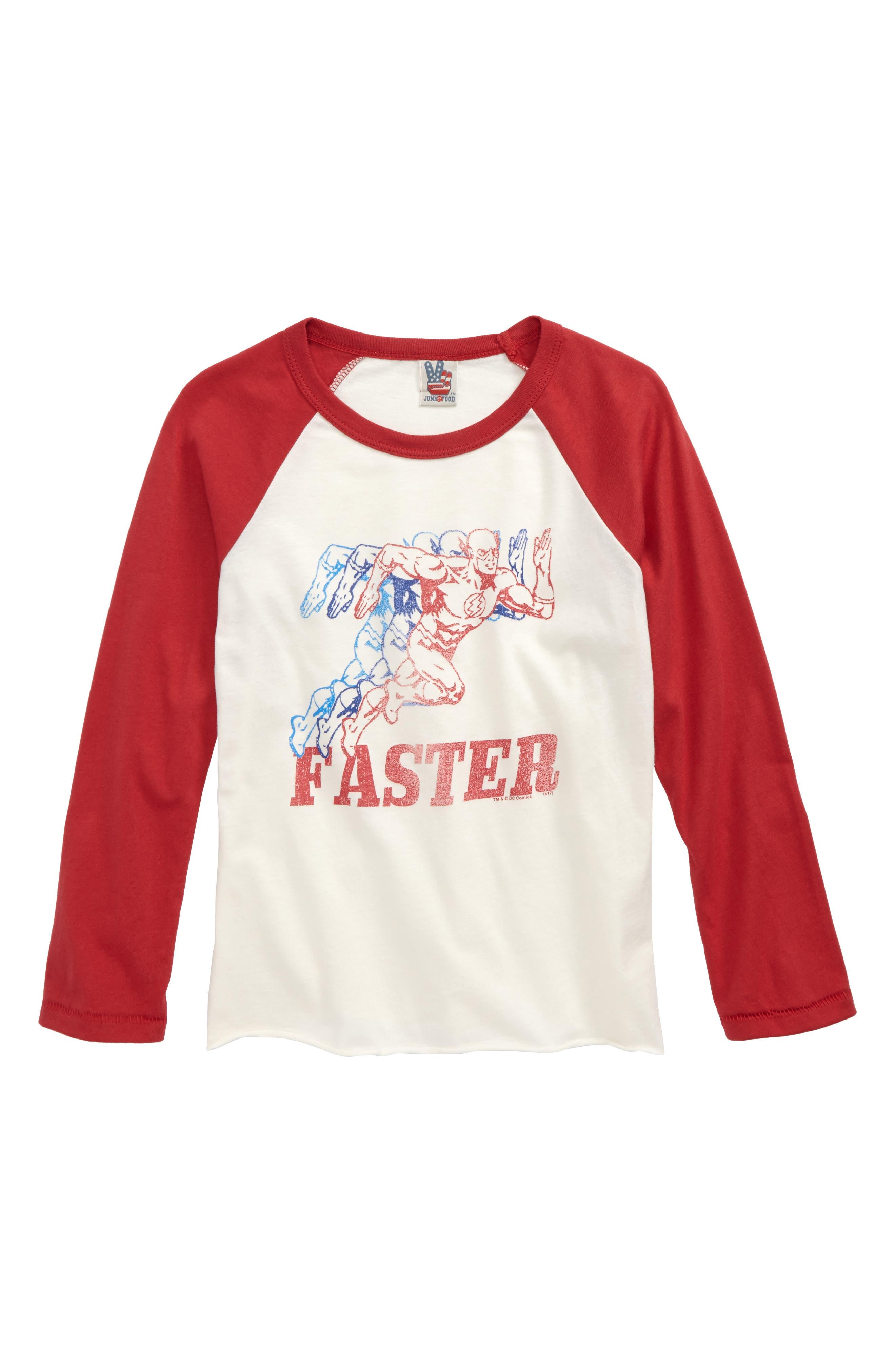 The Flash Graphic Raglan Shirt, Main, color, 900