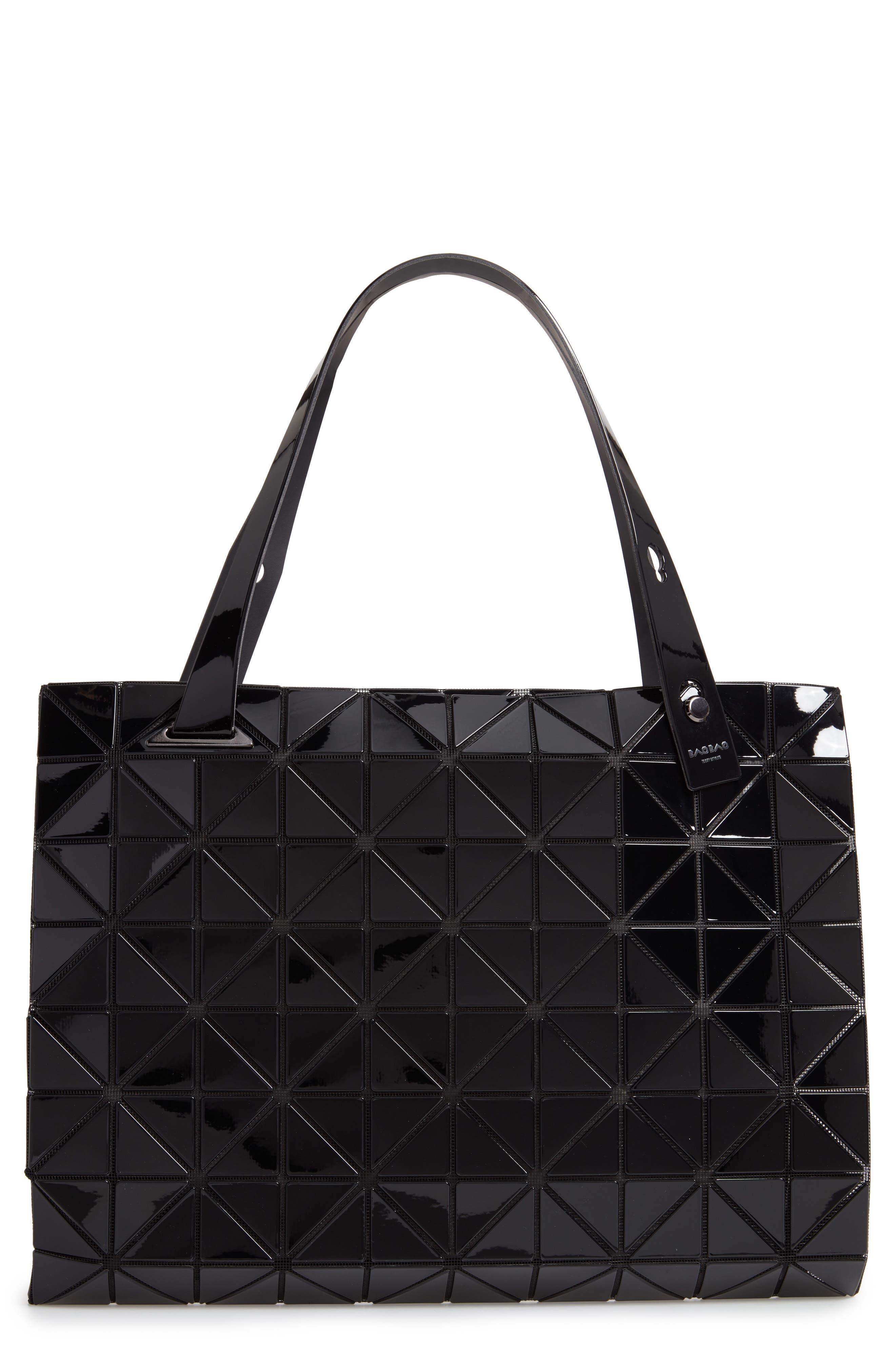 BAO BAO ISSEY MIYAKE Carton Prism Tote Bag, Main, color, JET BLACK