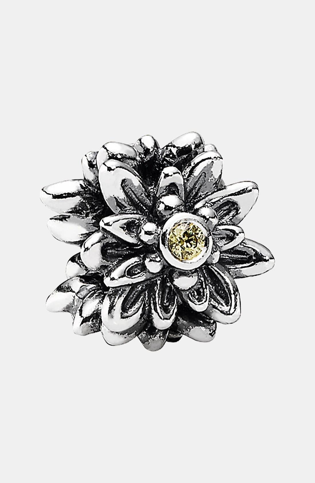 PANDORA,                             Edelweiss Charm,                             Main thumbnail 1, color,                             040