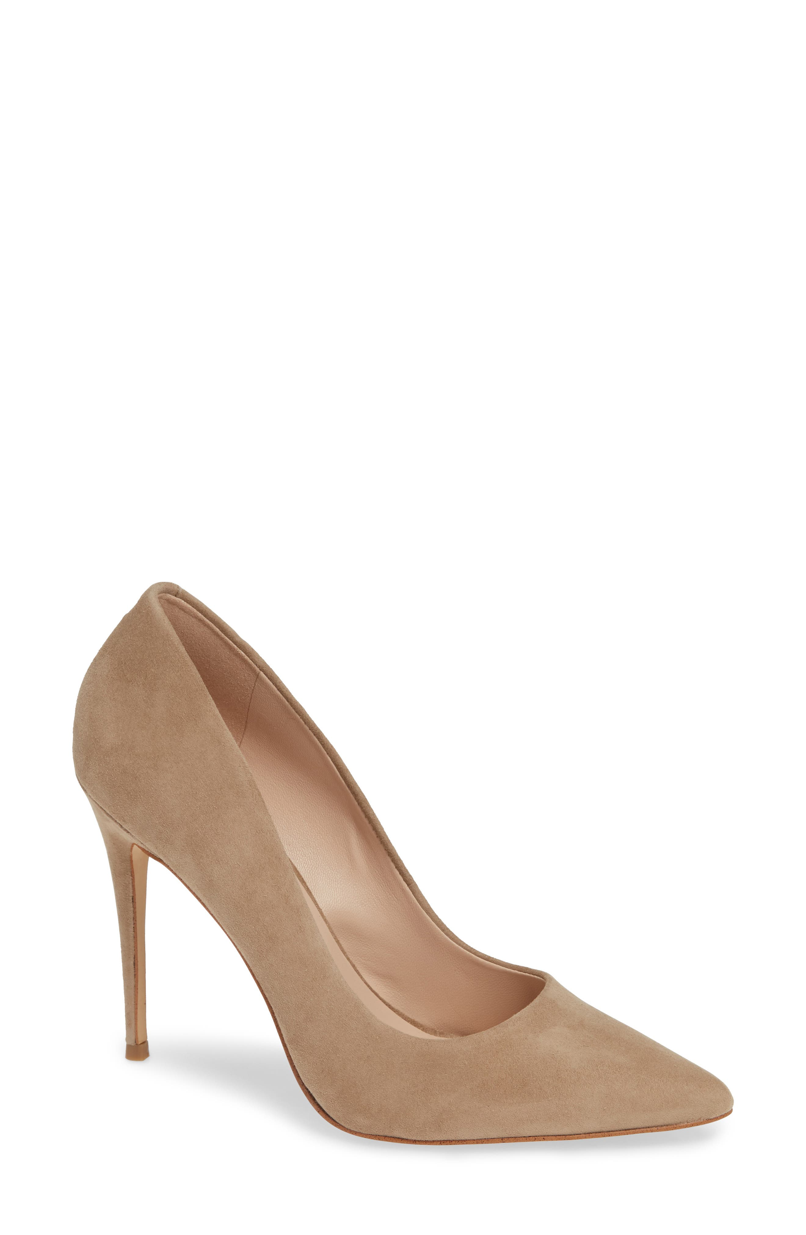 Emma Pump,                             Main thumbnail 1, color,                             TAUPE SUEDE