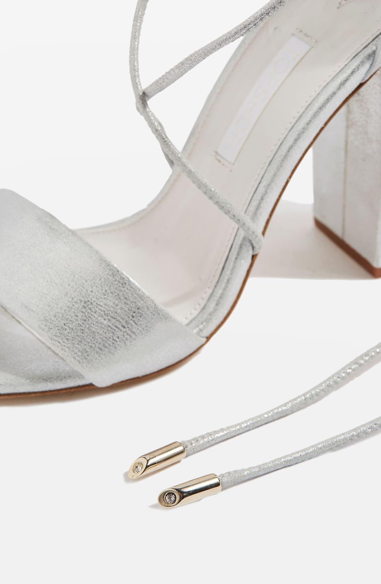 Bride Beatrix Lace-Up Sandals,                             Alternate thumbnail 3, color,                             040