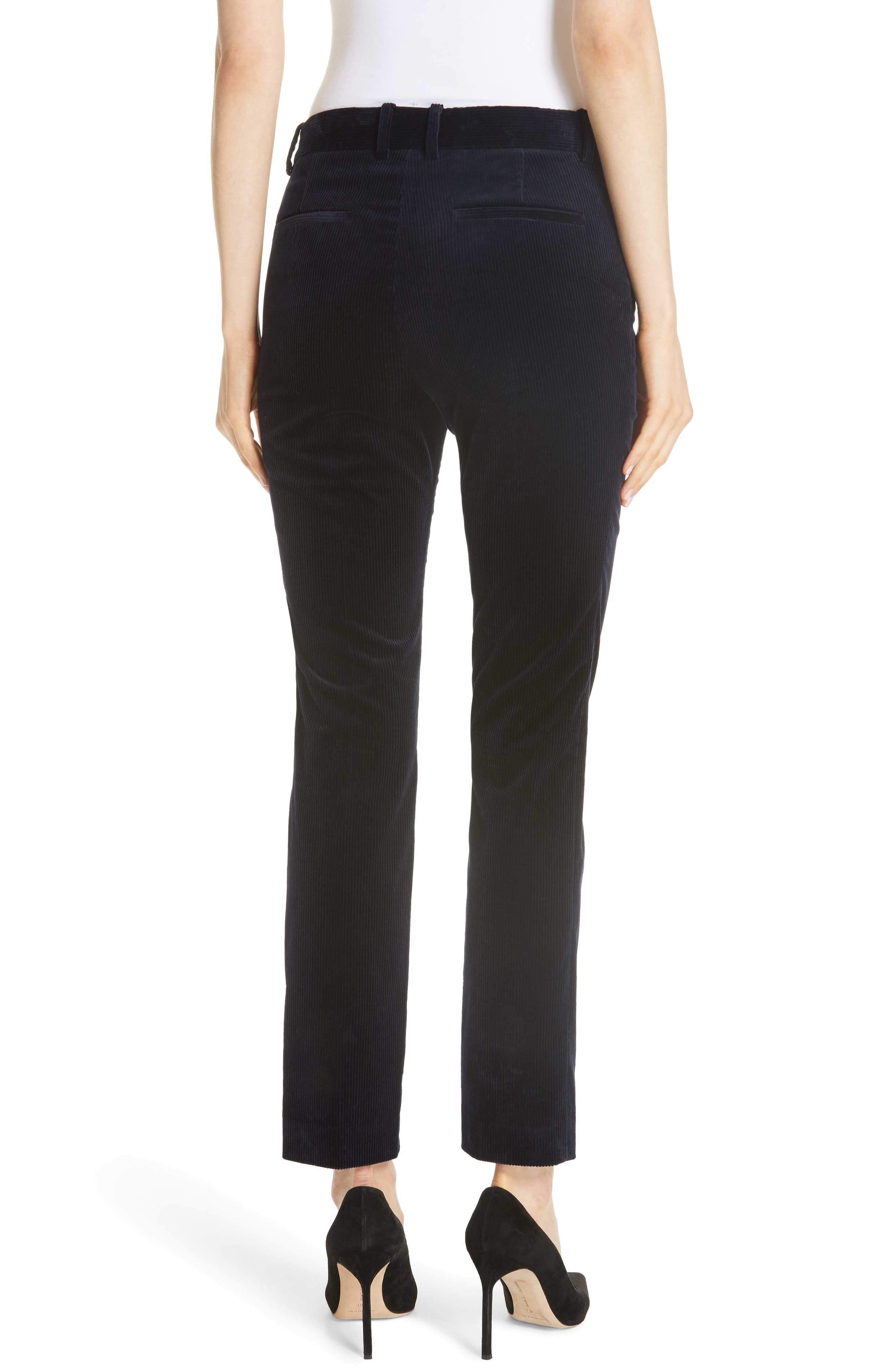 Slim Corduroy Trousers,                             Alternate thumbnail 2, color,                             DEEP NAVY