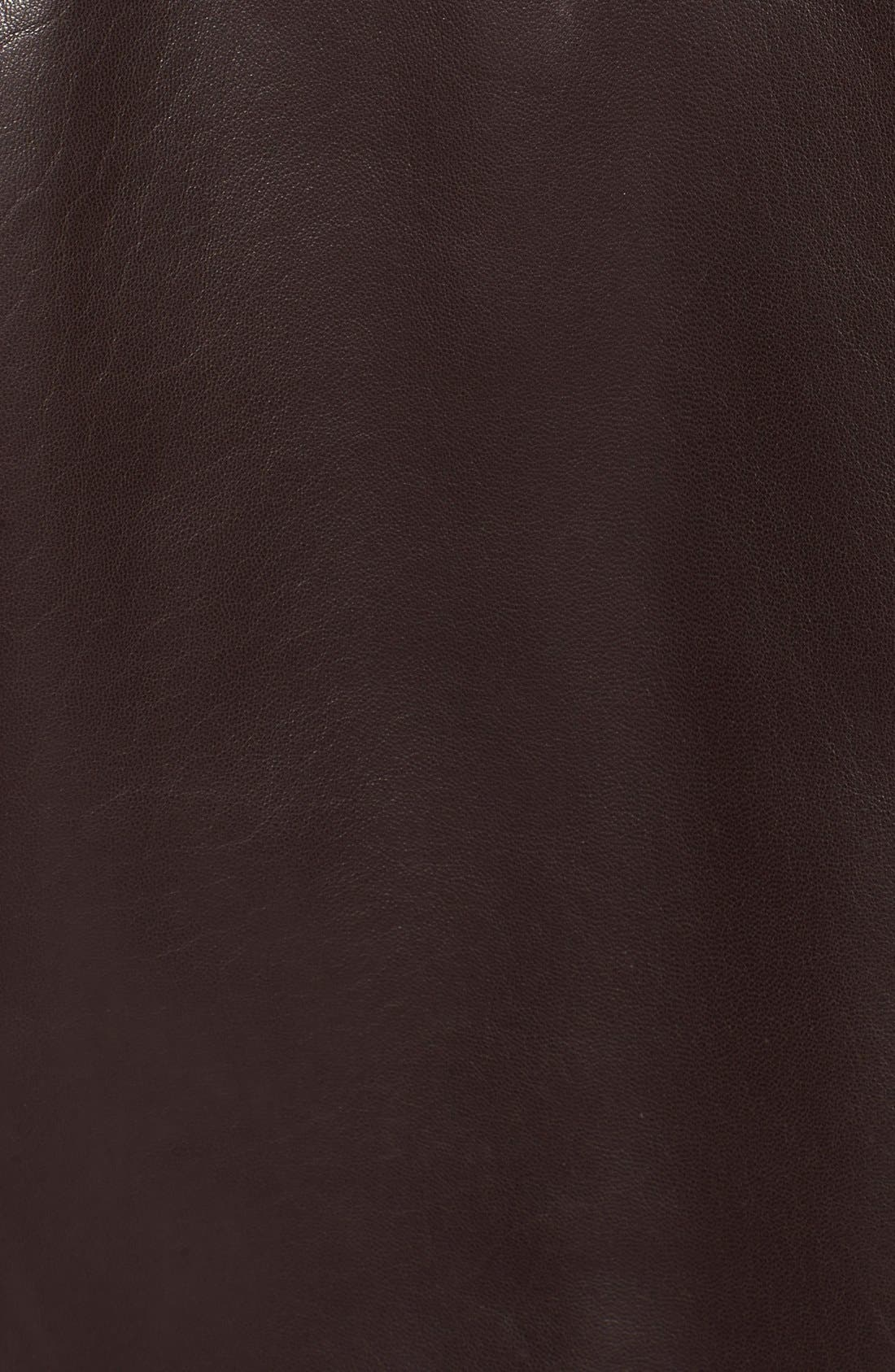 Lambskin Leather Jacket,                             Alternate thumbnail 8, color,                             JAVA