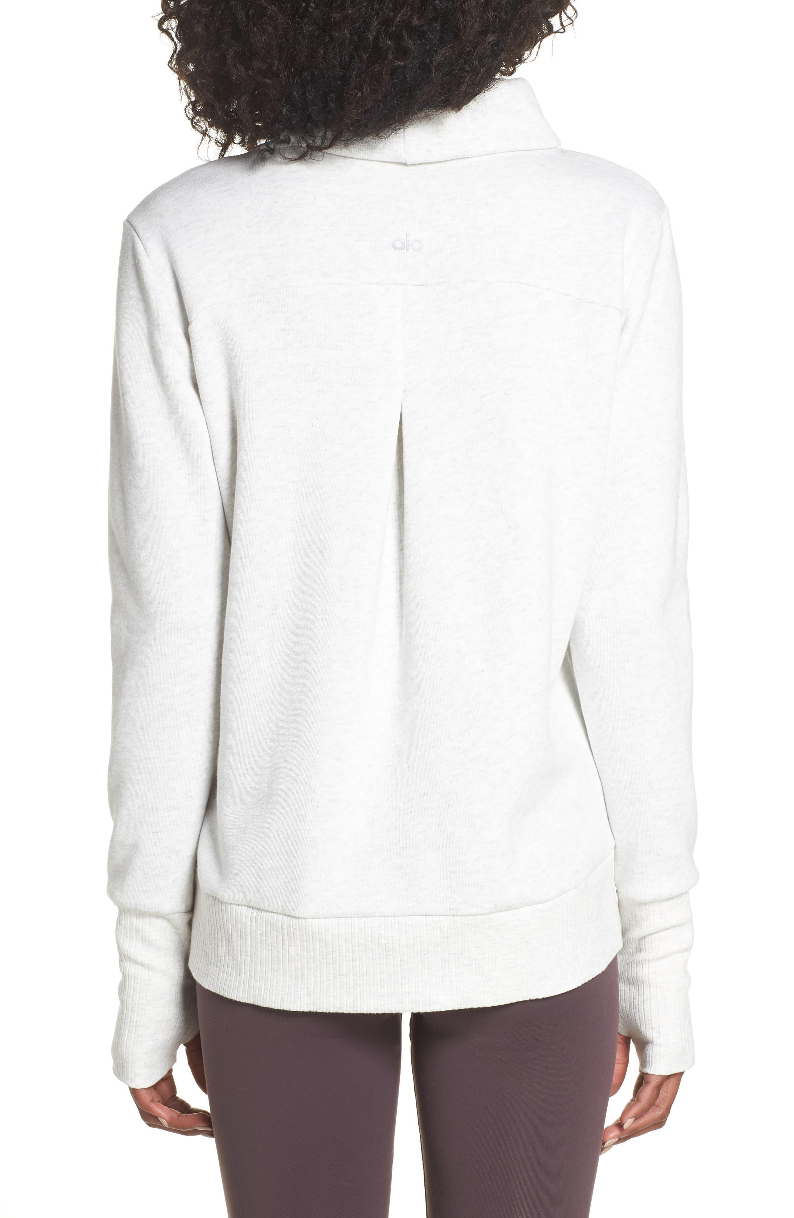 'Haze' Funnel Neck Sweatshirt,                             Alternate thumbnail 2, color,                             WHITE HEATHER