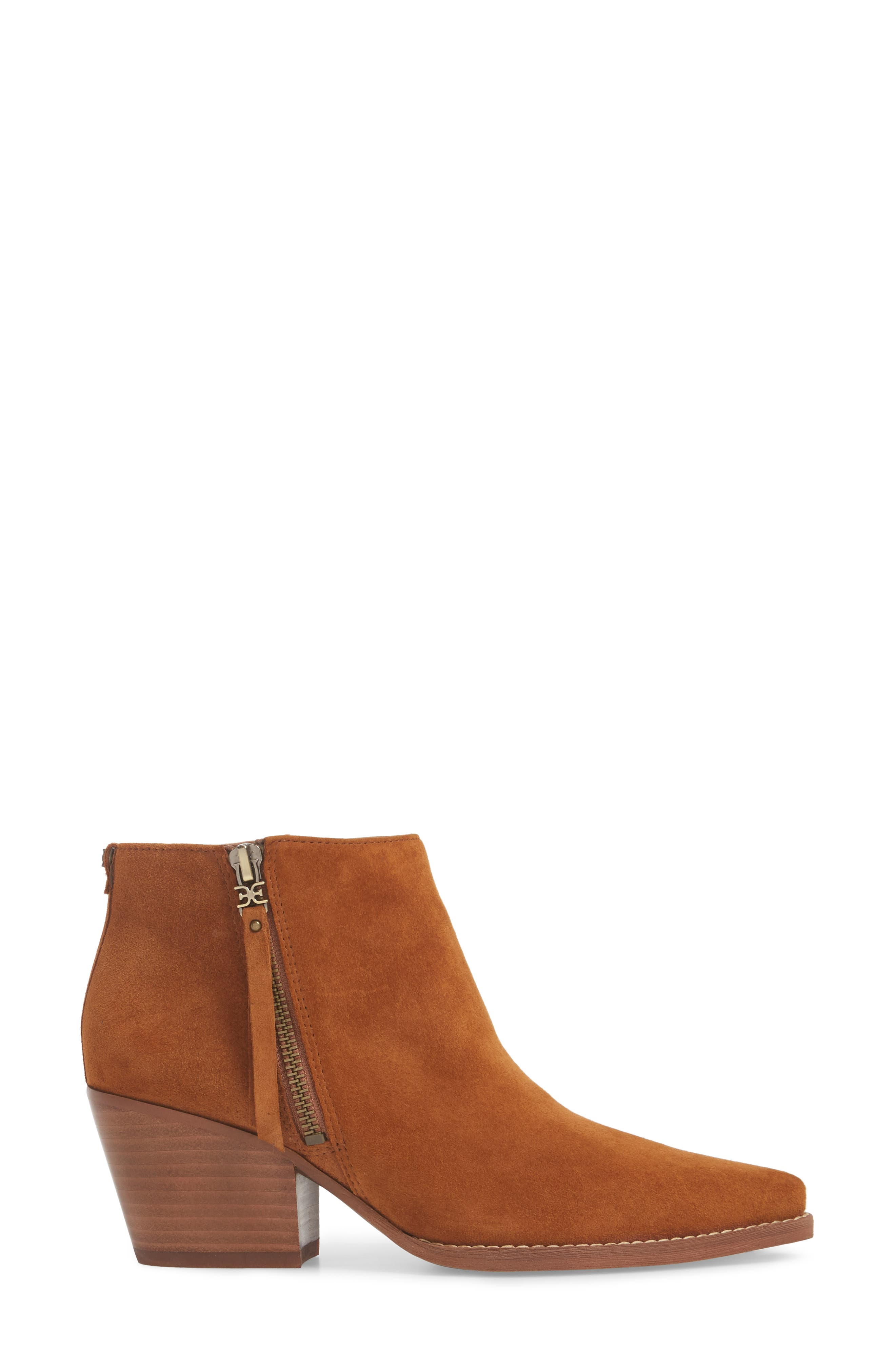 Walden Bootie,                             Alternate thumbnail 3, color,                             LUGGAGE SUEDE