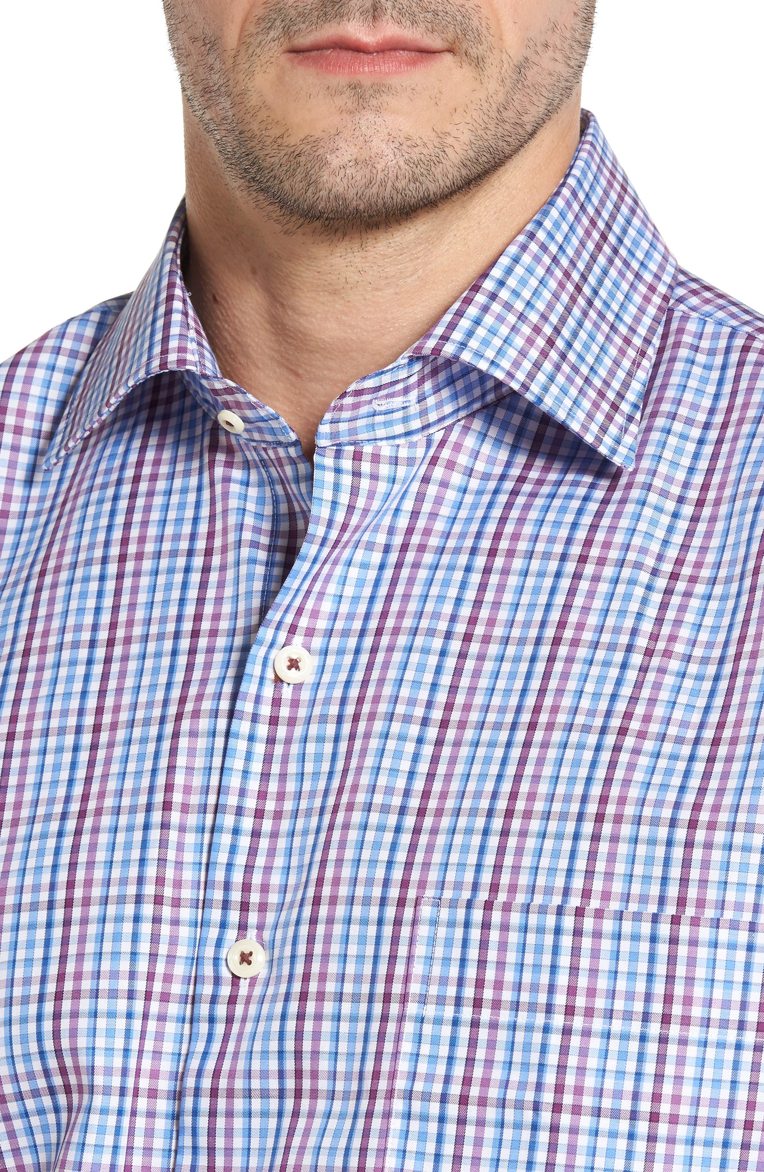 Grand Voyage Regular Fit Tattersall Sport Shirt,                             Alternate thumbnail 4, color,                             430