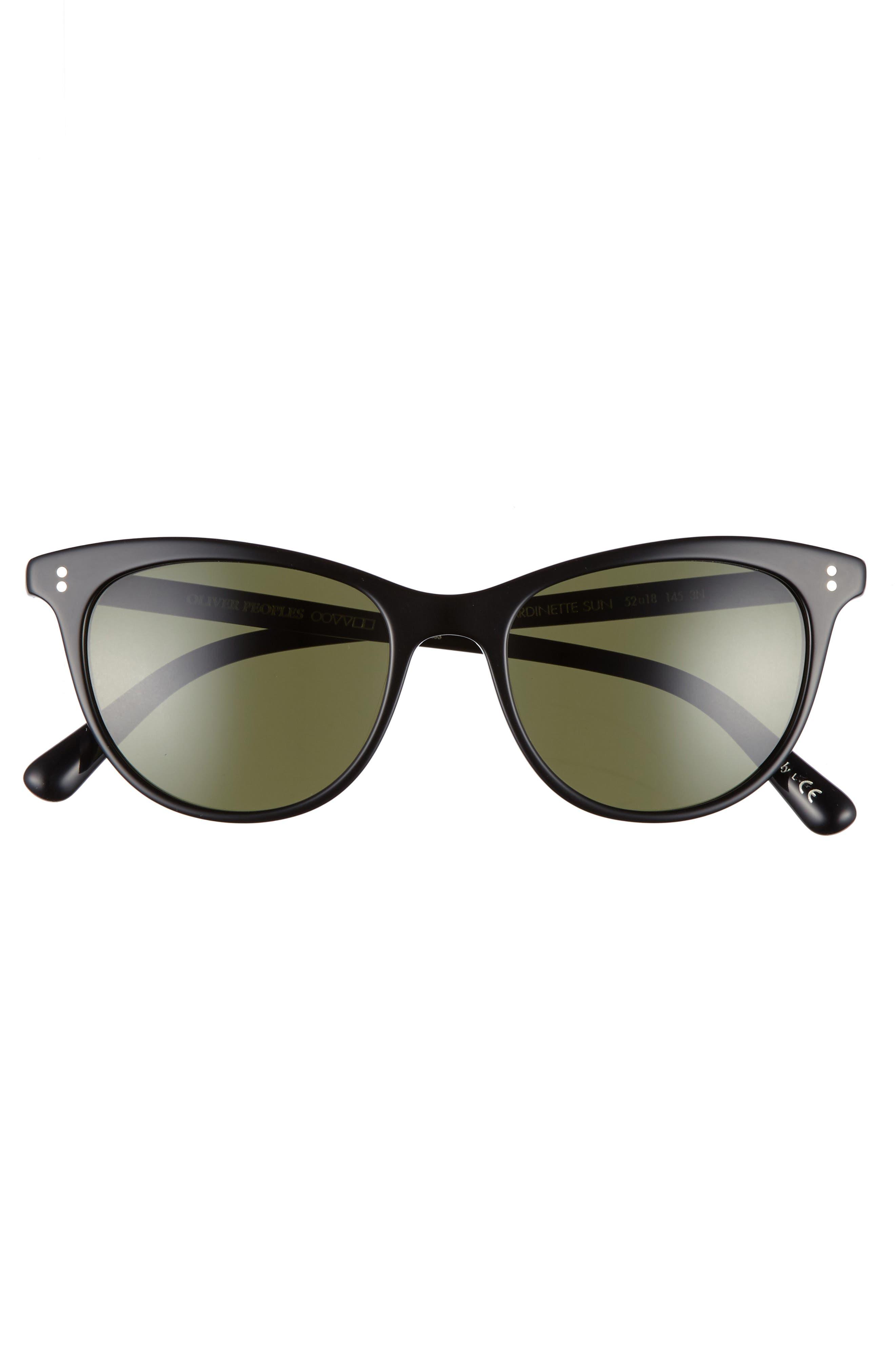 Jardinette 52mm Cat Eye Sunglasses,                             Alternate thumbnail 3, color,                             001