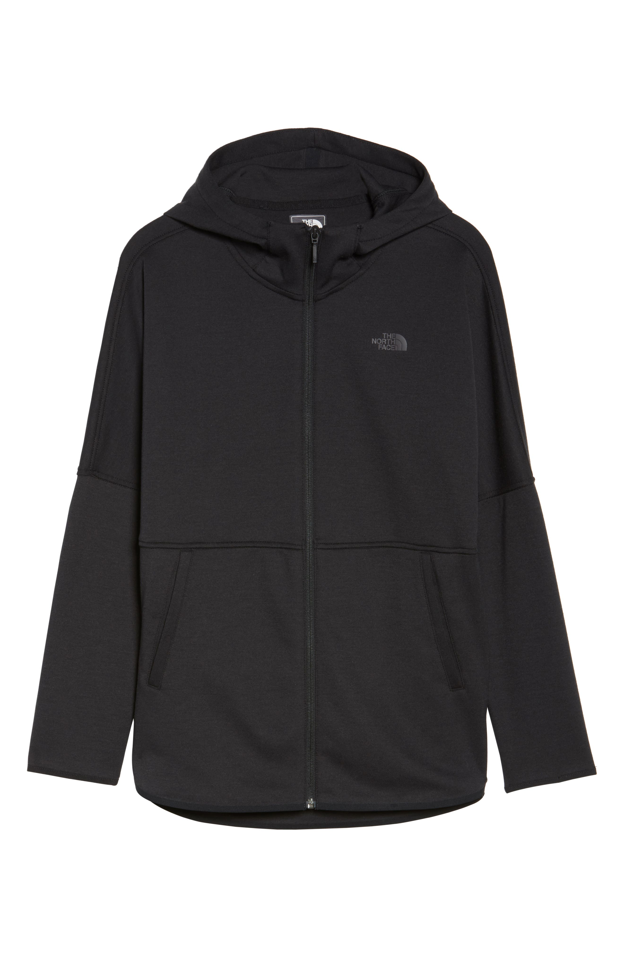 THE NORTH FACE,                             Slacker Hooded Jacket,                             Alternate thumbnail 6, color,                             001
