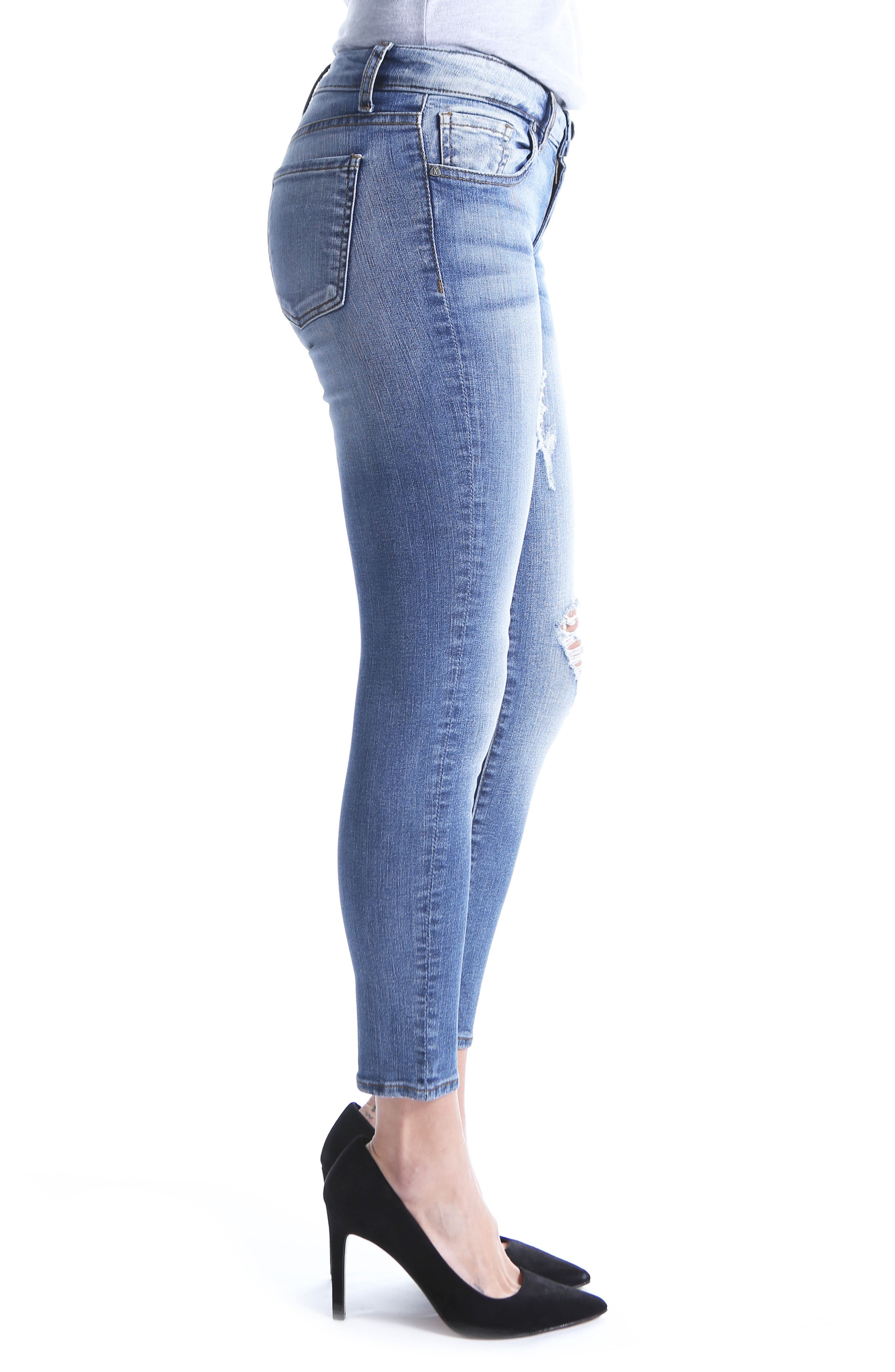 Donna Ankle Skinny Jeans,                             Alternate thumbnail 6, color,