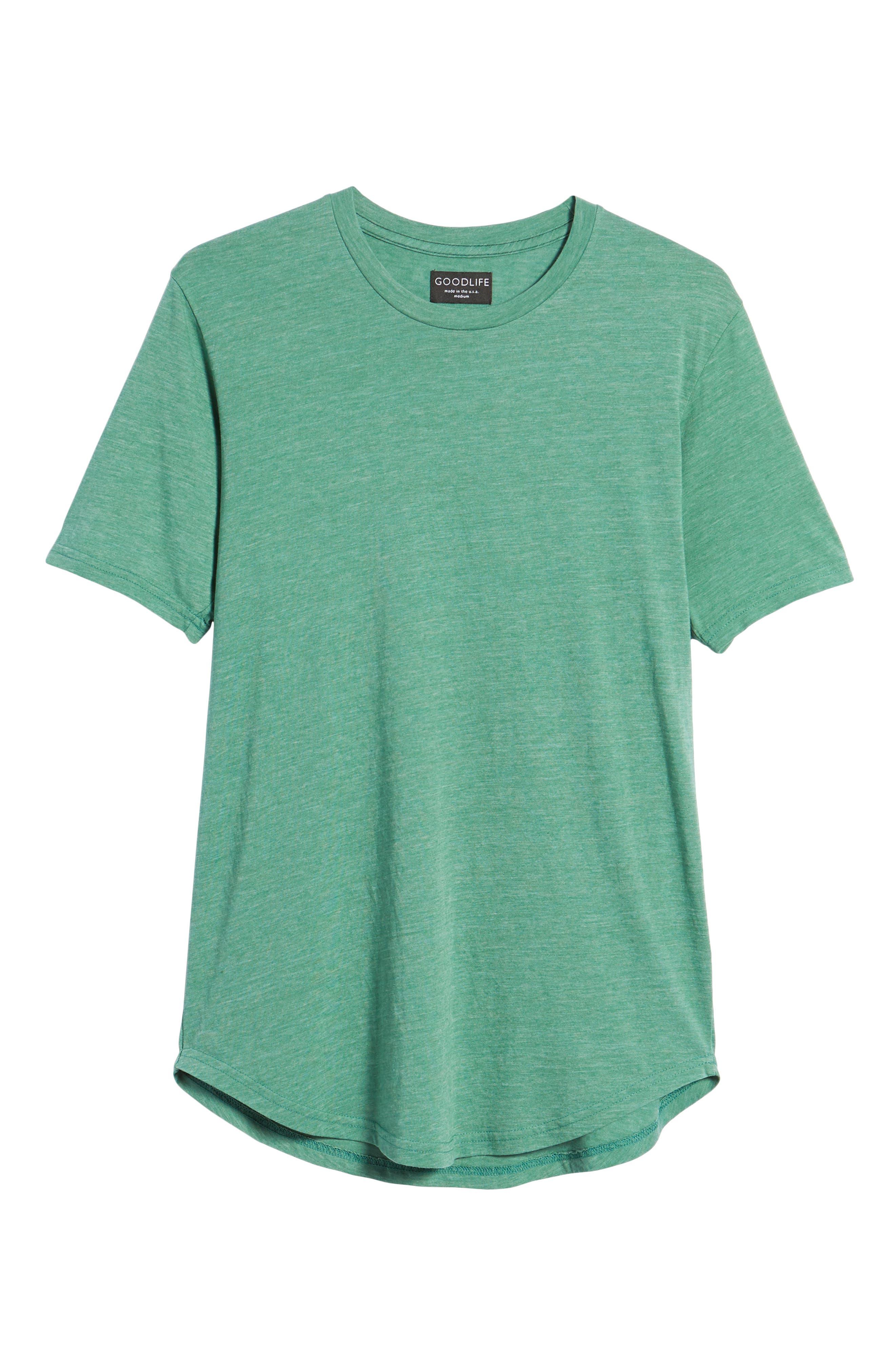 Scallop Triblend Crewneck T-Shirt,                             Alternate thumbnail 122, color,
