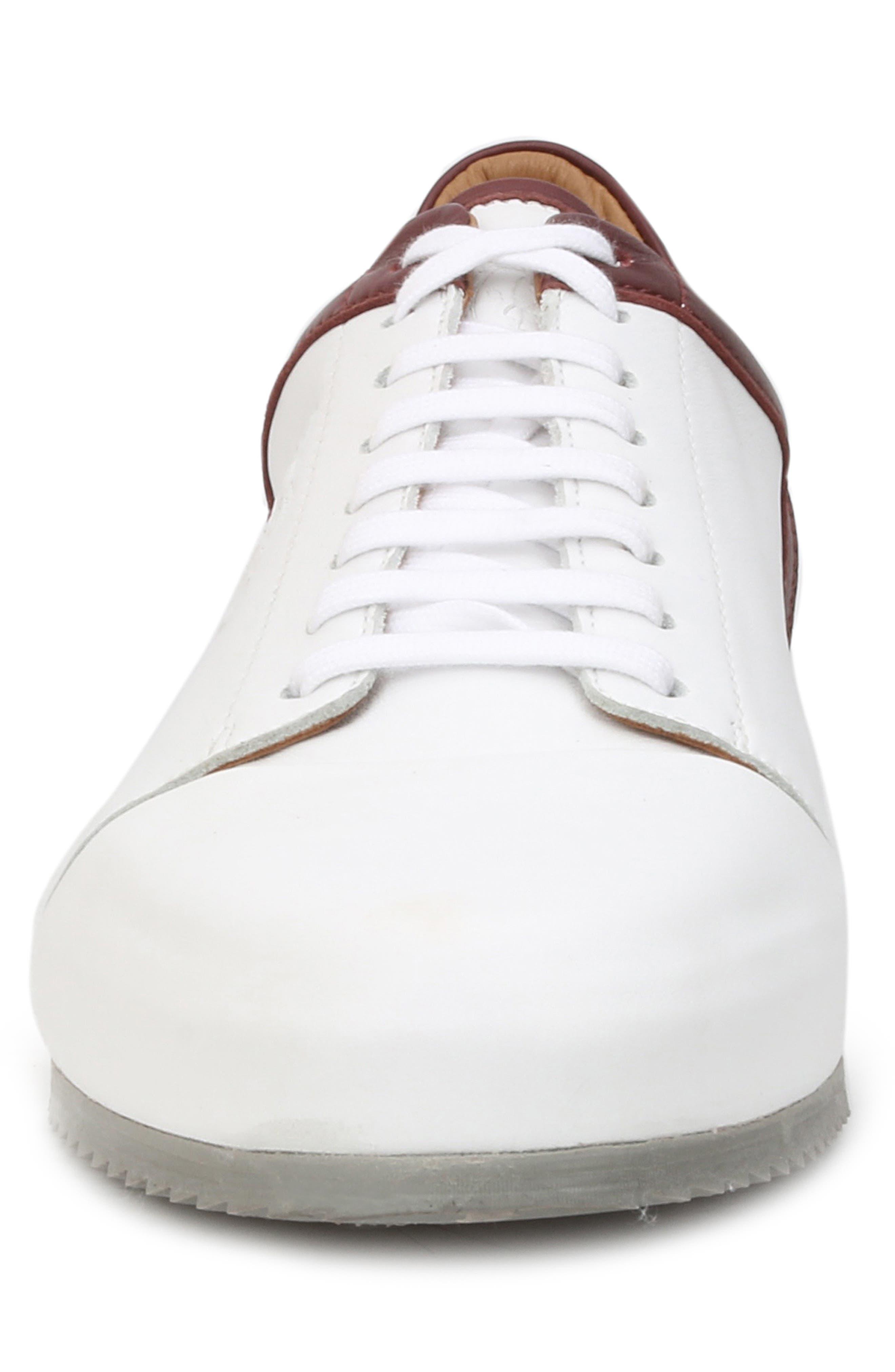 Santana Sneaker,                             Alternate thumbnail 4, color,                             WHITE/ BORDEAUX