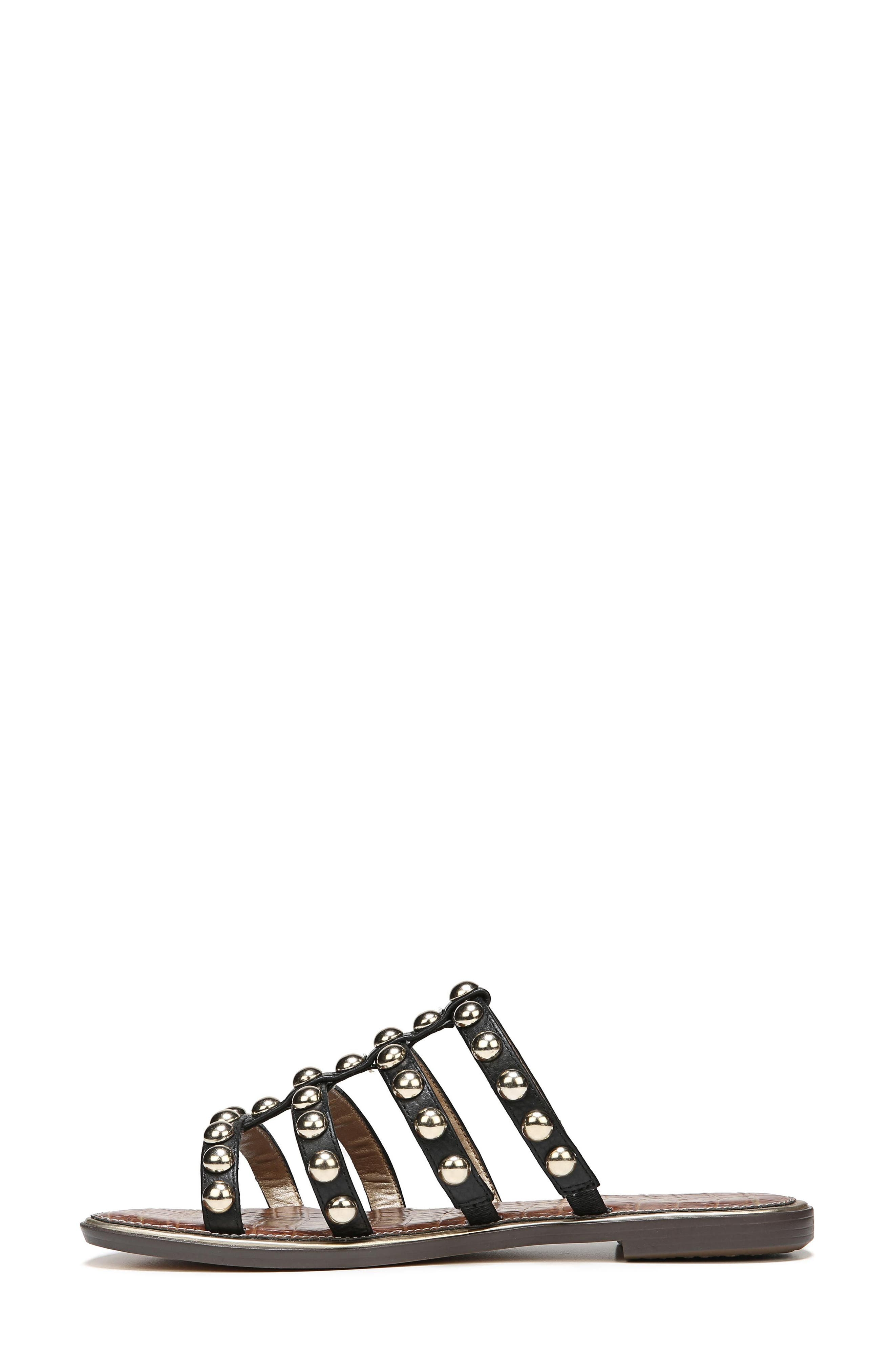 Glenn Studded Slide Sandal,                             Alternate thumbnail 8, color,                             001