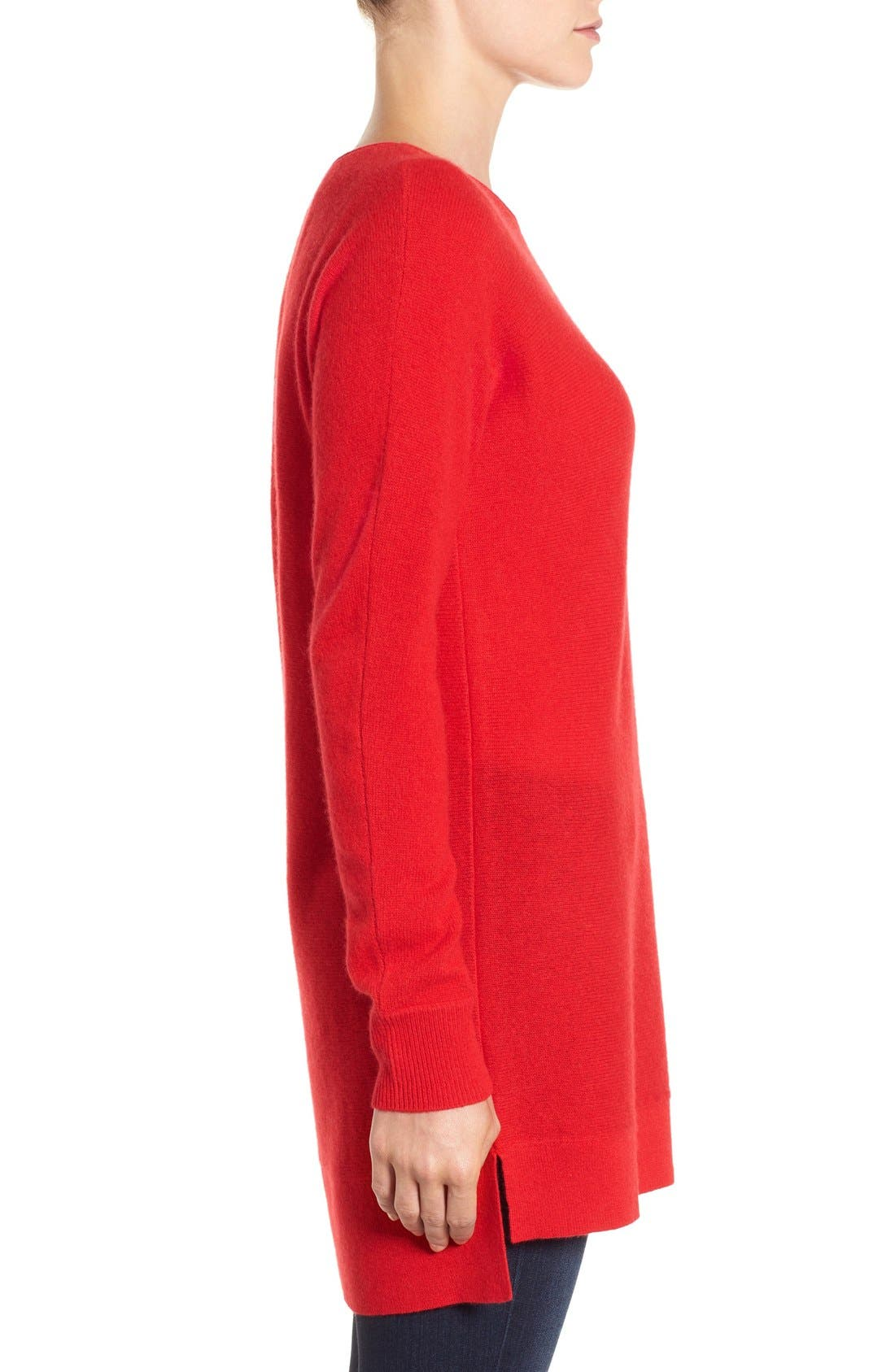 High/Low Wool & Cashmere Tunic Sweater,                             Alternate thumbnail 86, color,