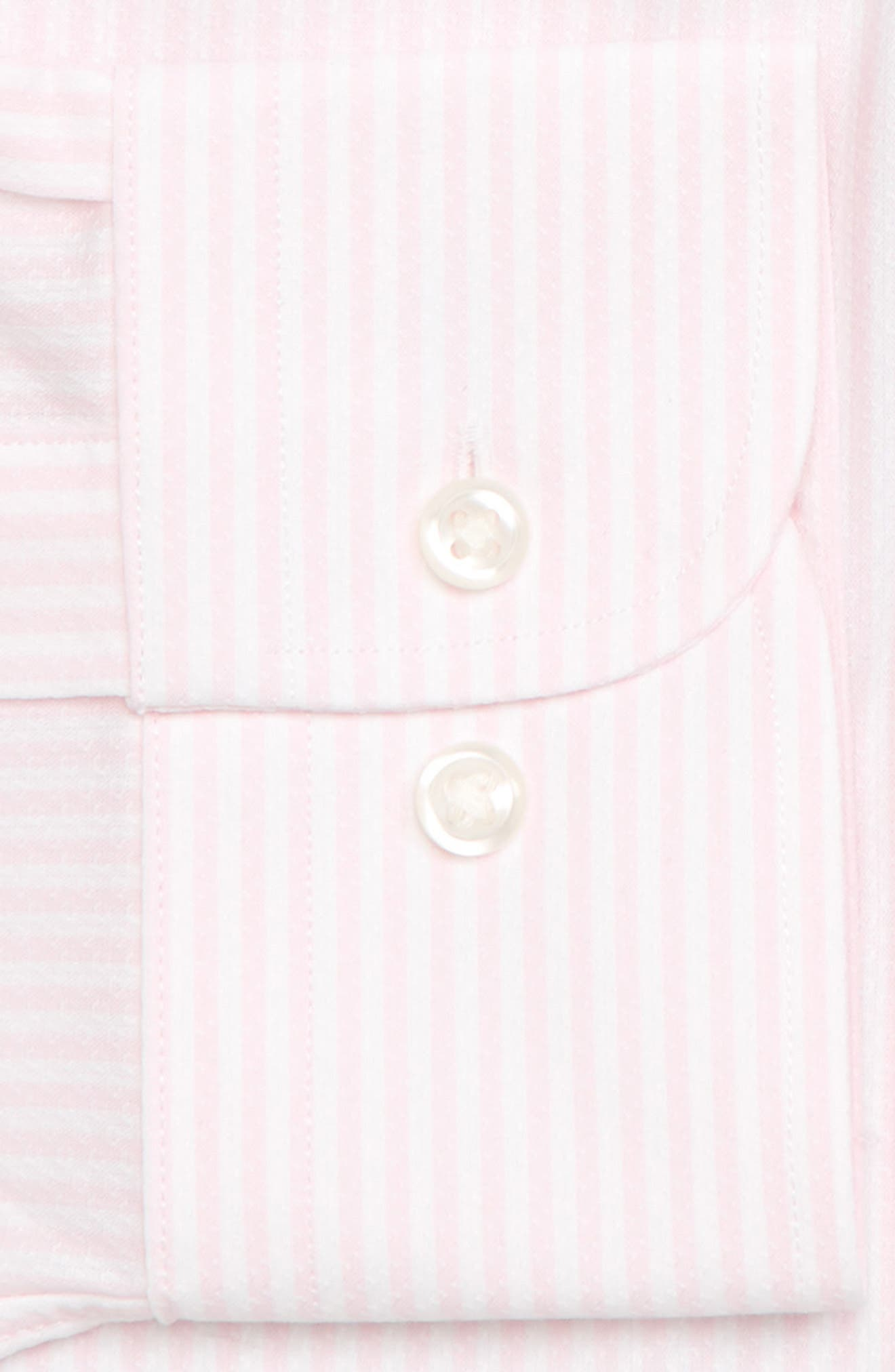 Tech-Smart Traditional Fit Stripe Stretch Dress Shirt,                             Alternate thumbnail 18, color,