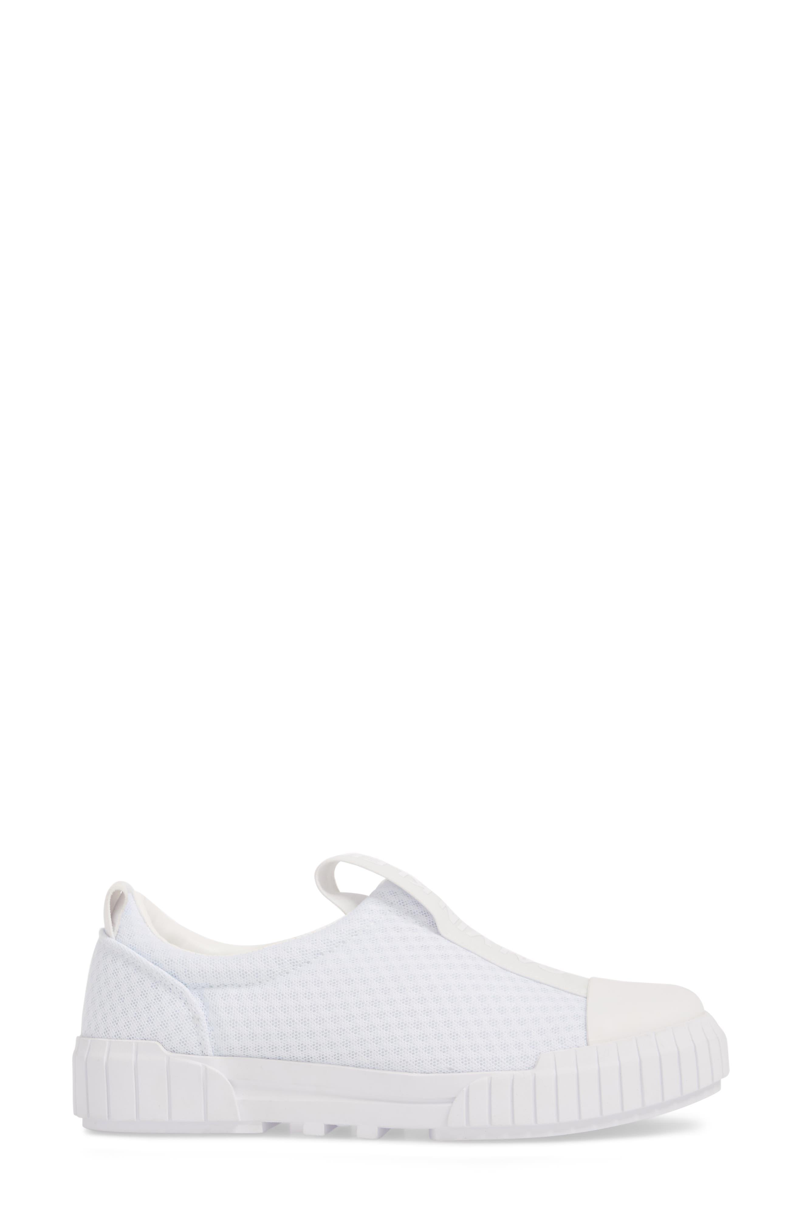Bamina Slip-On Sneaker,                             Alternate thumbnail 3, color,                             WHITE
