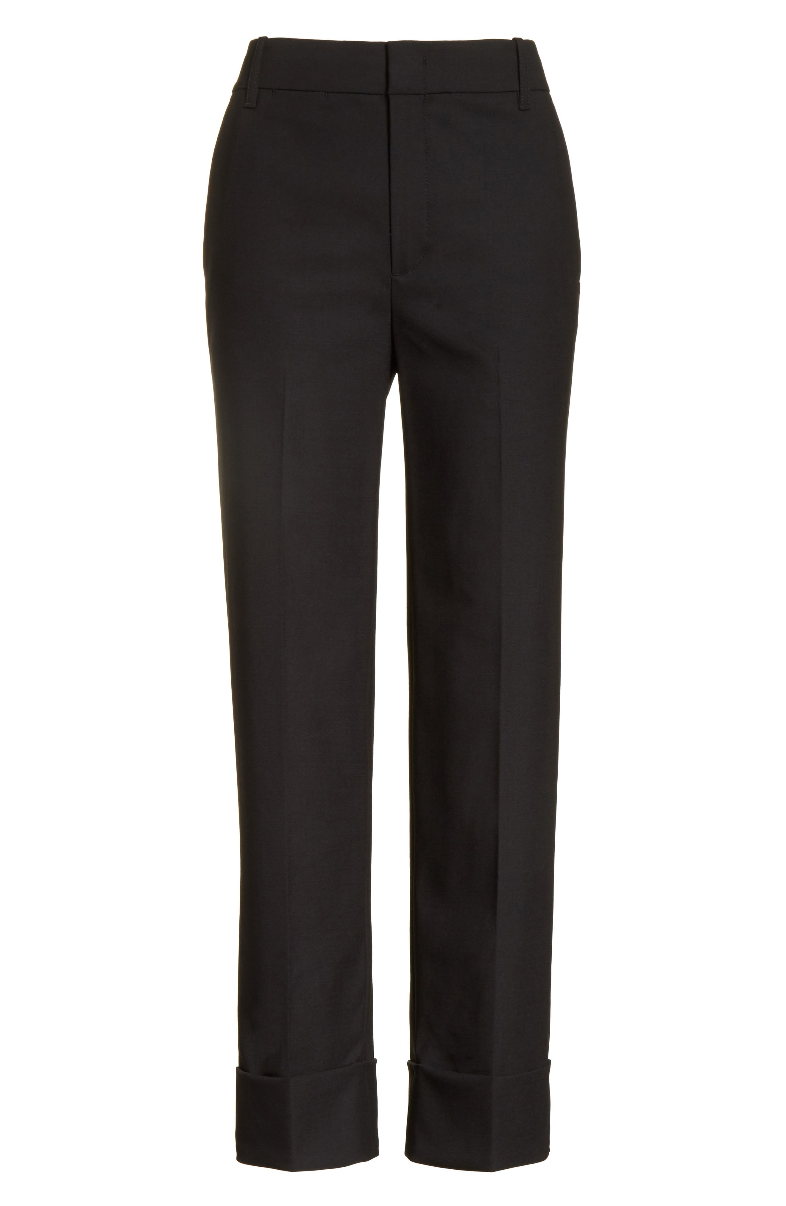 Cuffed Coin Pocket Trousers,                             Alternate thumbnail 6, color,                             001
