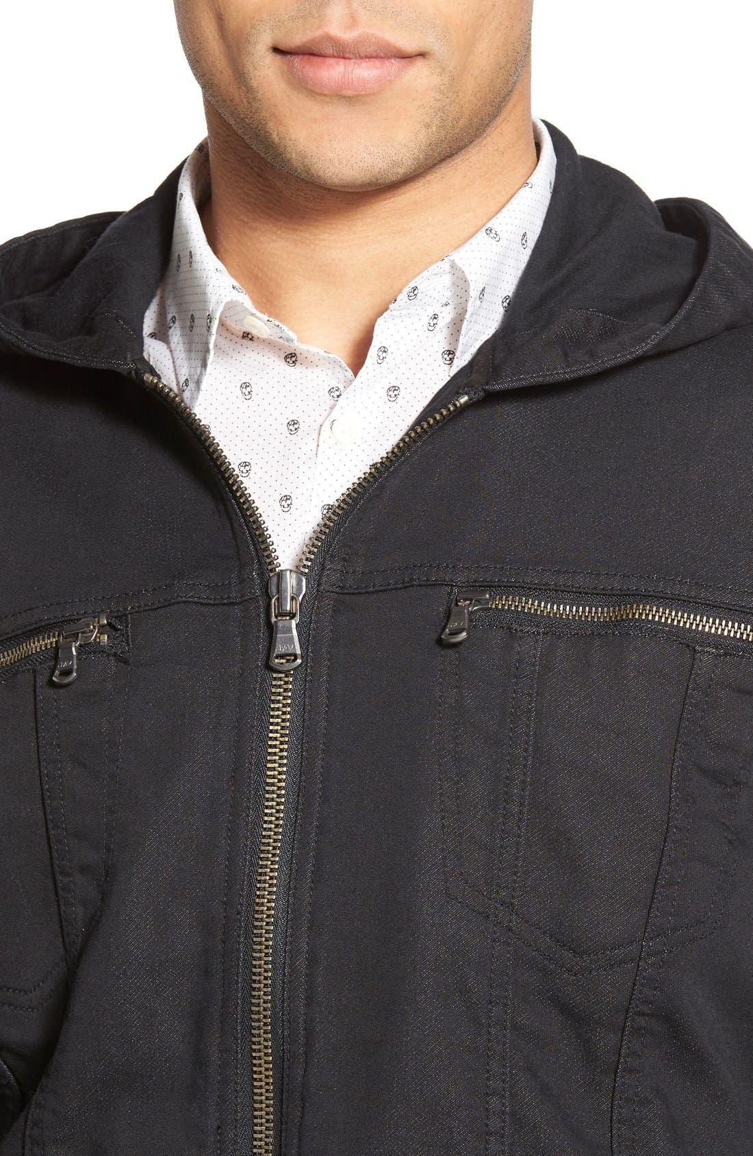 Hooded Denim Jacket,                             Alternate thumbnail 14, color,