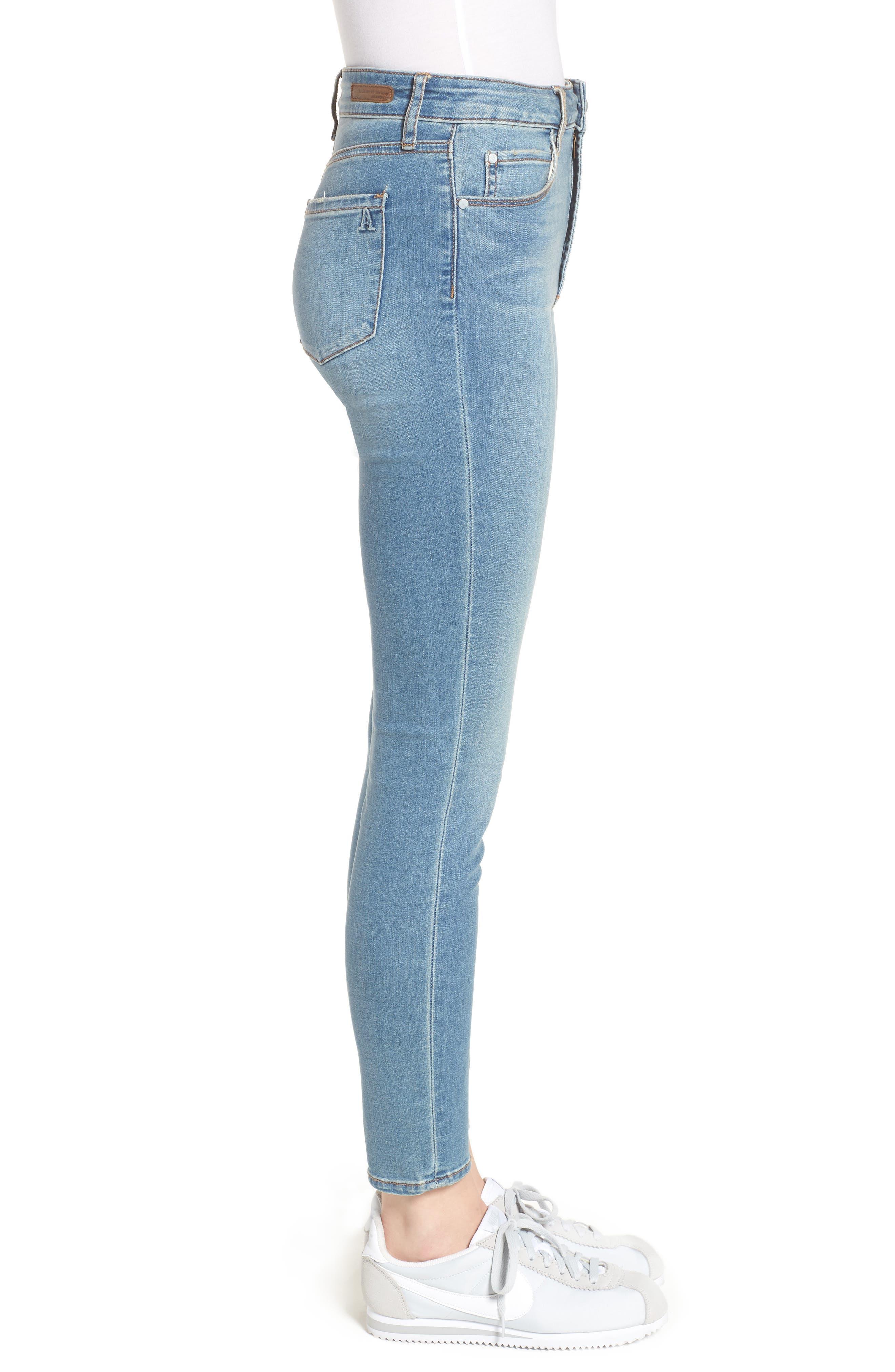 Heather High Waist Skinny Jeans,                             Alternate thumbnail 3, color,                             481