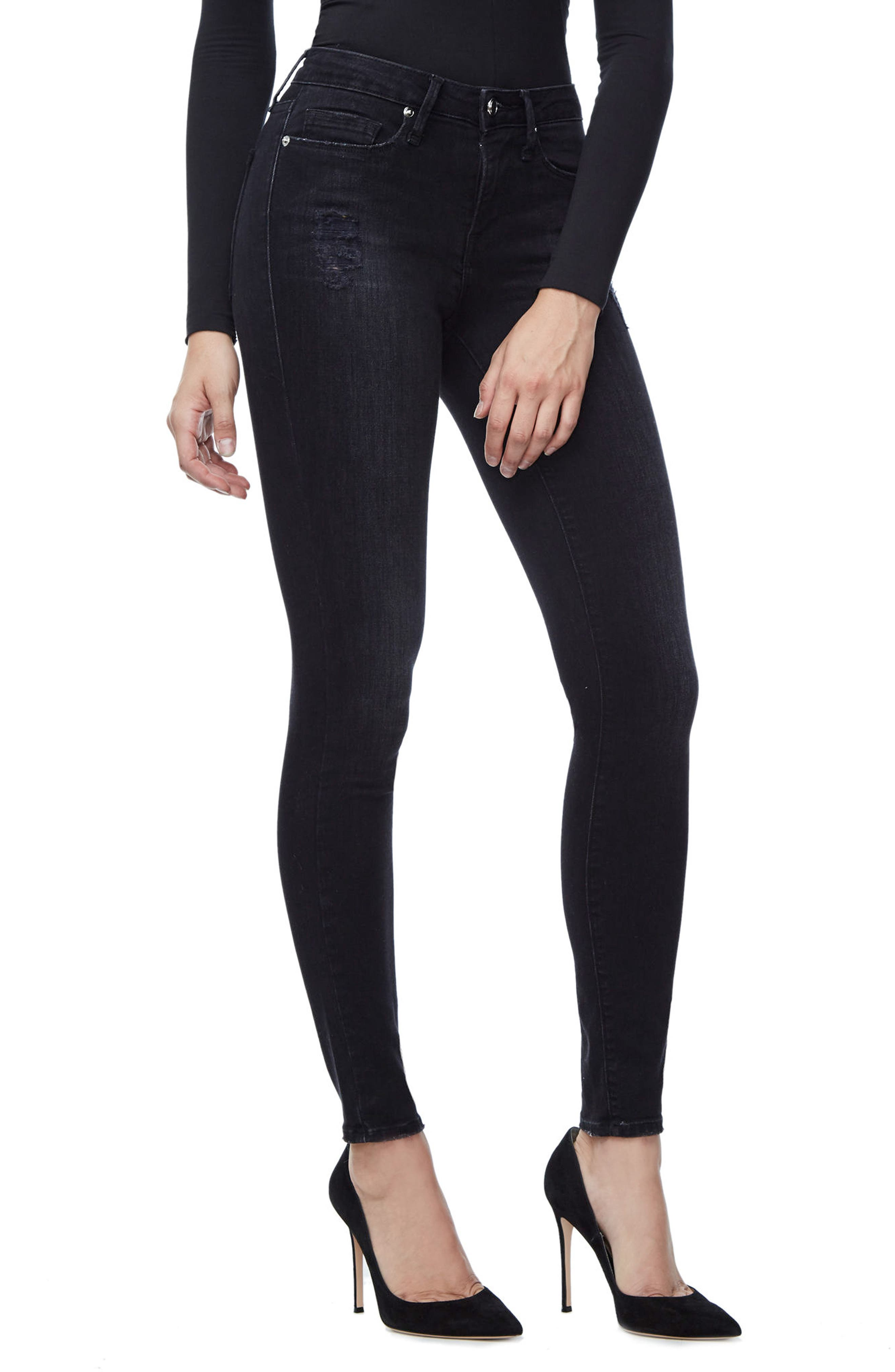 Good Waist Grommet Detail Skinny Jeans,                         Main,                         color, 001