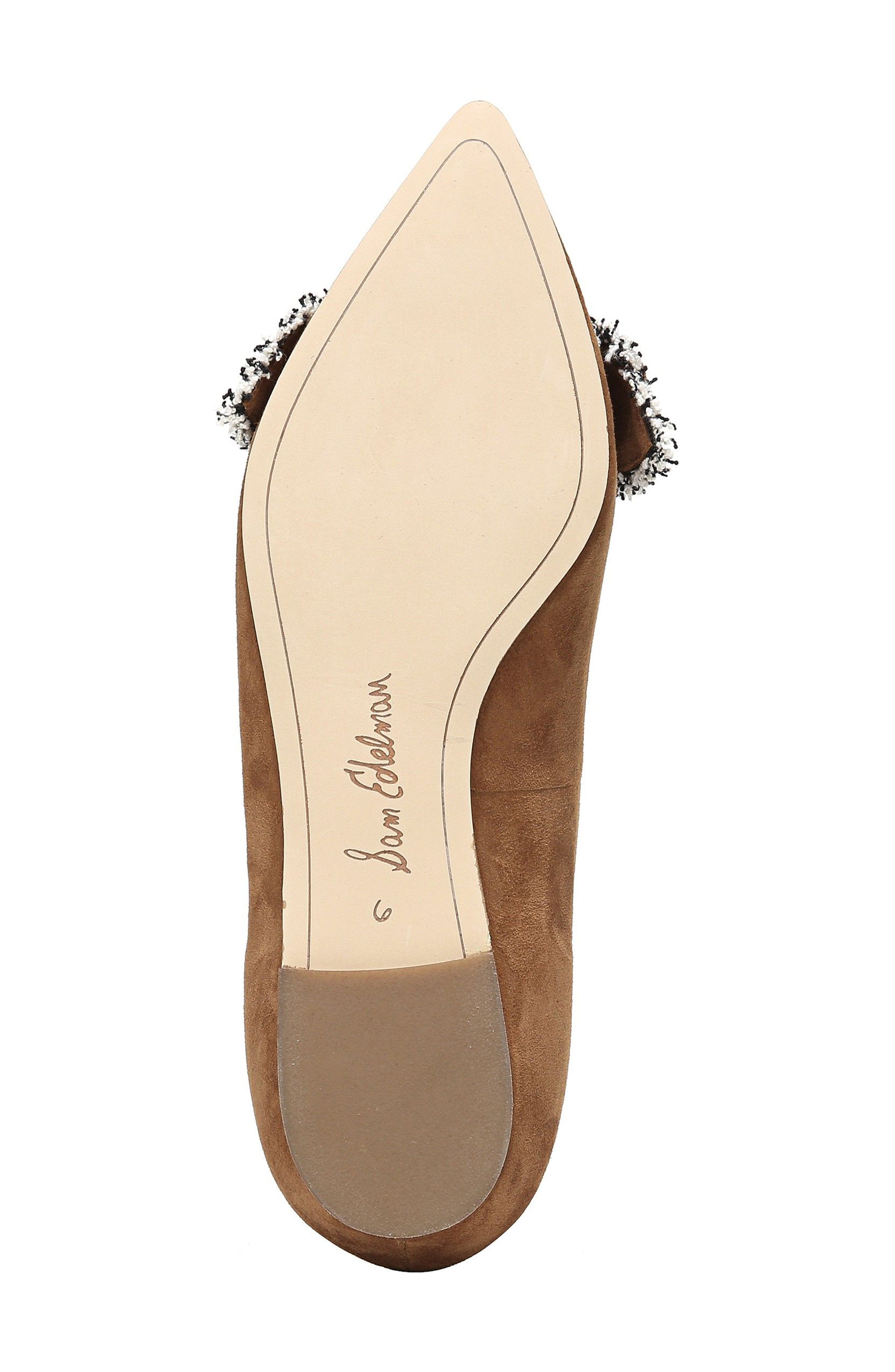 Rochester Bow Pointy Toe Flat,                             Alternate thumbnail 18, color,