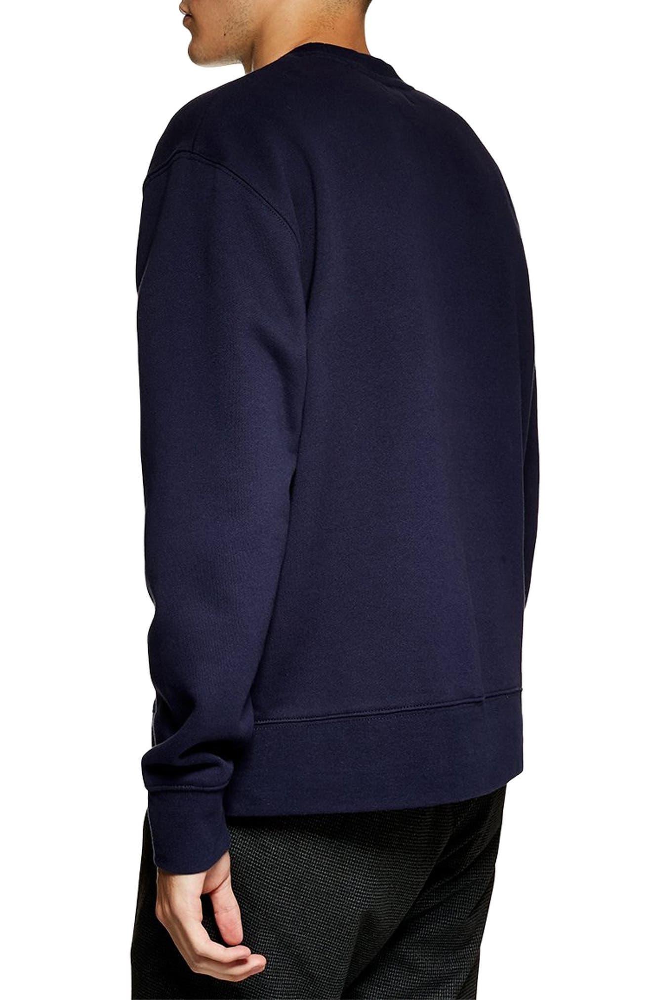 Tristan Sweatshirt,                             Alternate thumbnail 2, color,                             NAVY BLUE