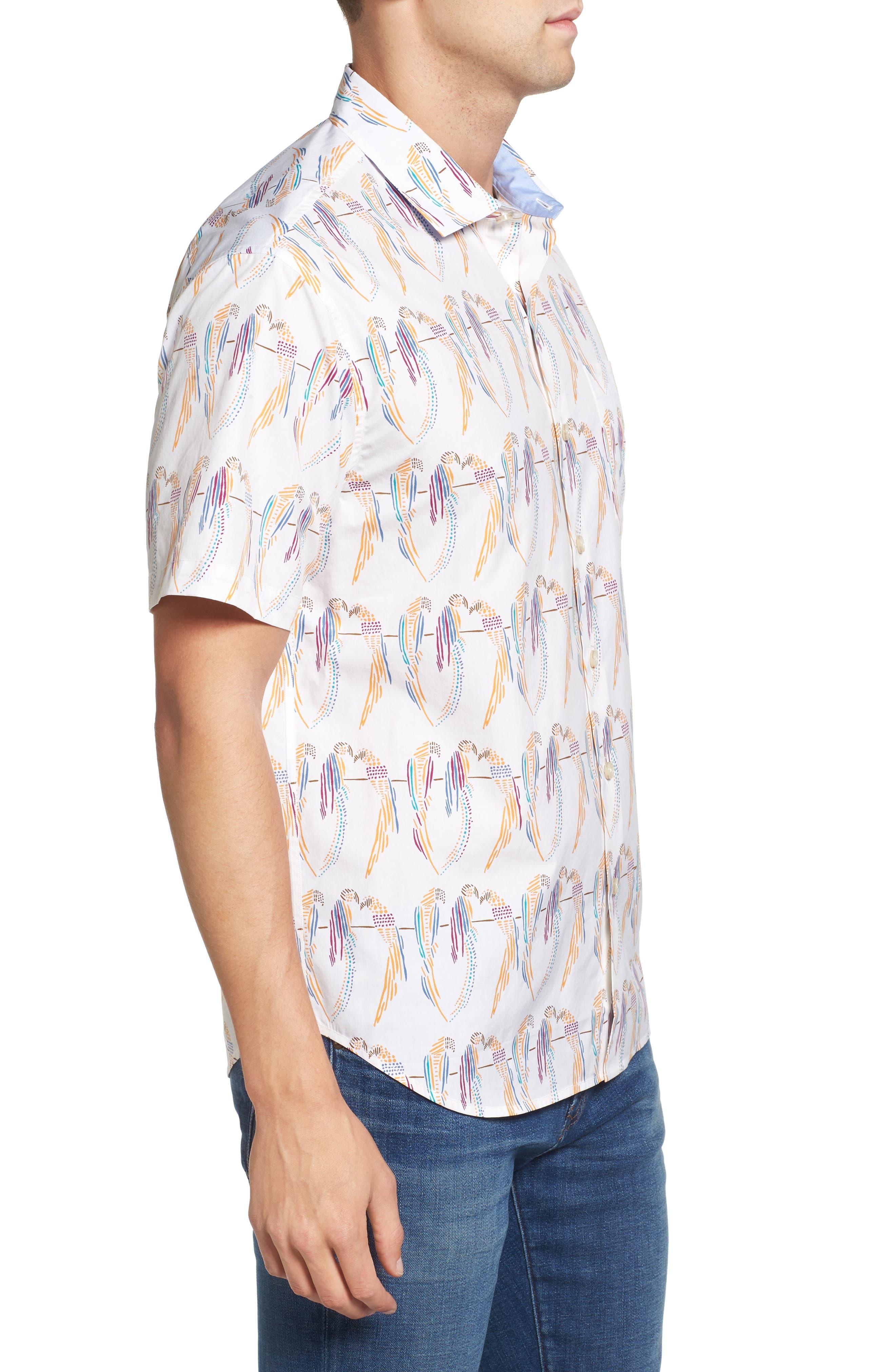 Meet the Parrots Standard Fit Sport Shirt,                             Alternate thumbnail 3, color,                             800