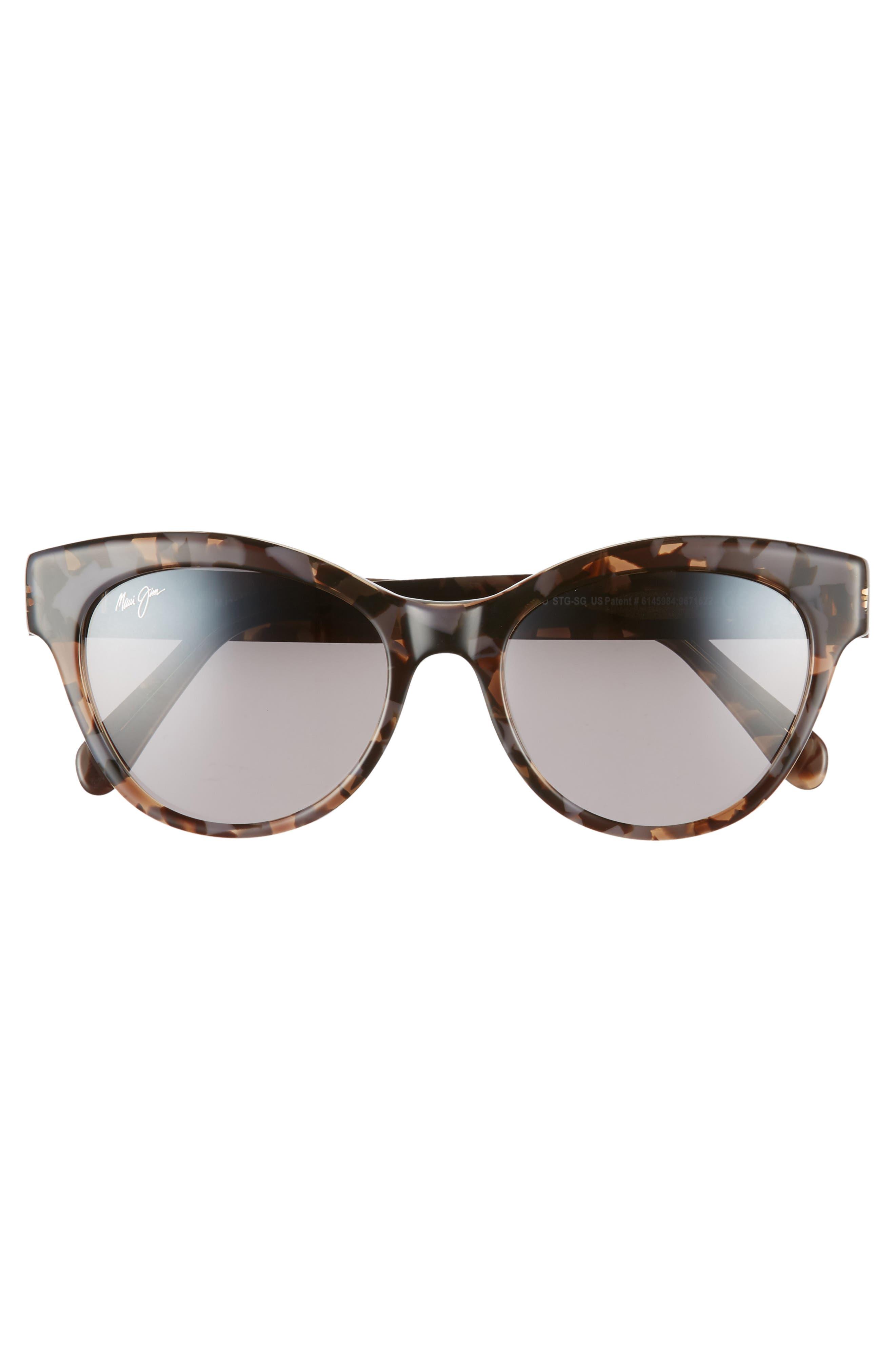 MAUI JIM,                             Ku'uipo 51mm Polarized Cat Eye Sunglasses,                             Alternate thumbnail 3, color,                             DOVE GREY