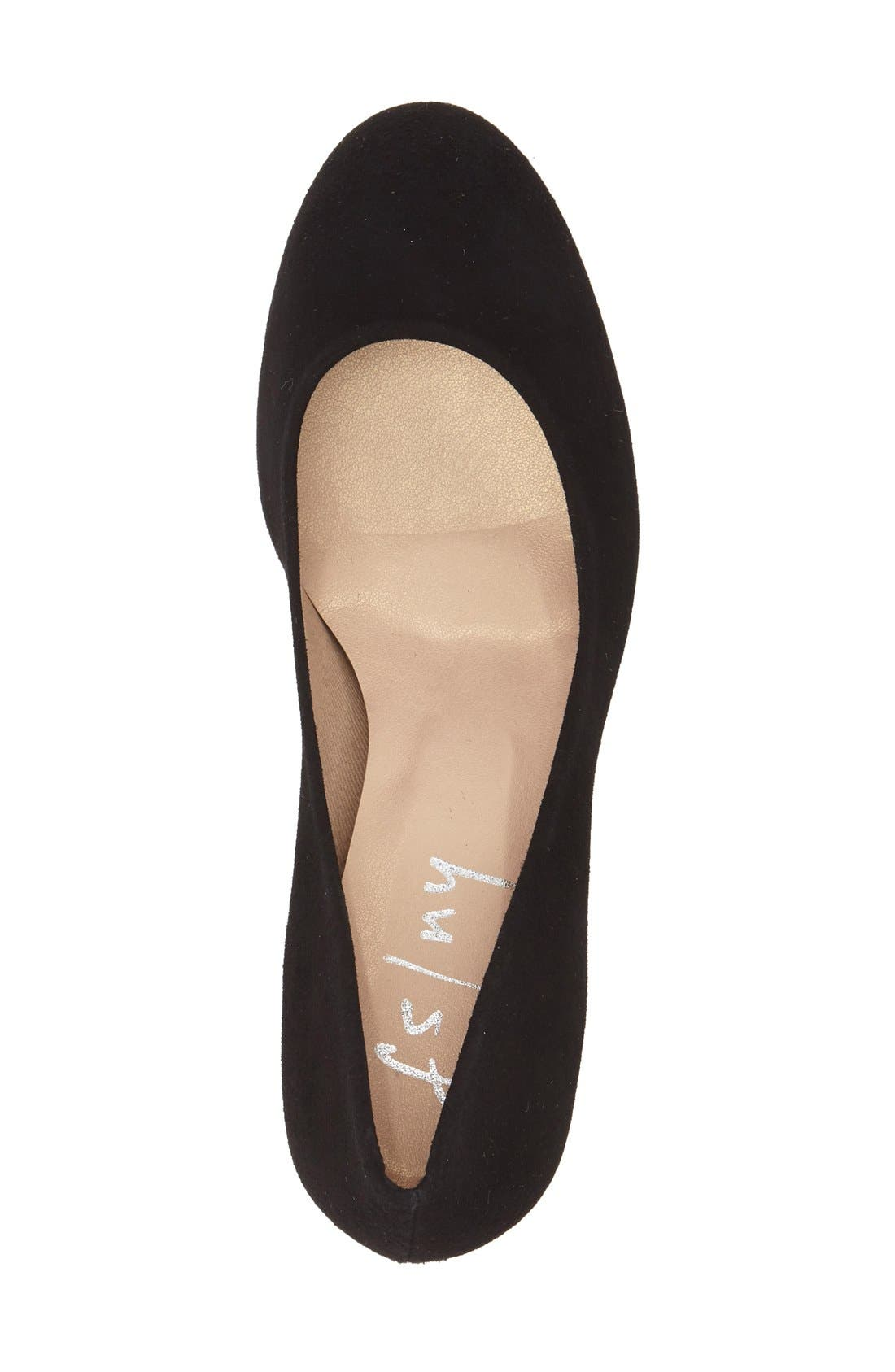 FRENCH SOLE,                             'Trance' Block Heel Pump,                             Alternate thumbnail 3, color,                             001