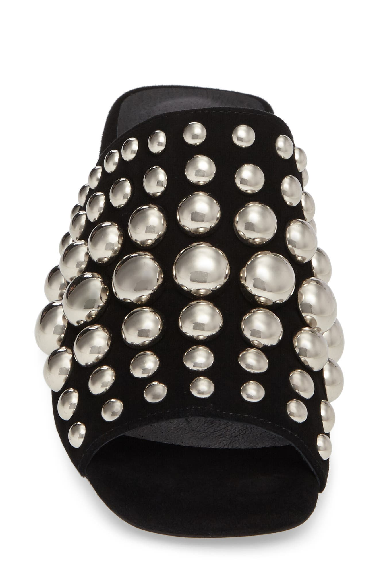 Perpetua Dome Stud Open-Toe Mule,                             Alternate thumbnail 4, color,                             001