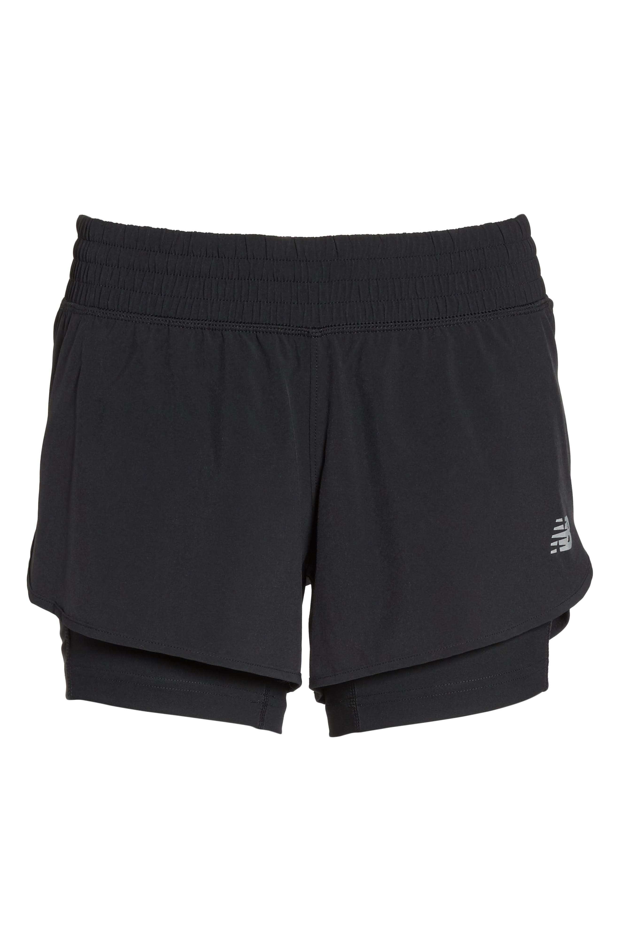 Impact Layered Running Shorts,                             Alternate thumbnail 7, color,                             001