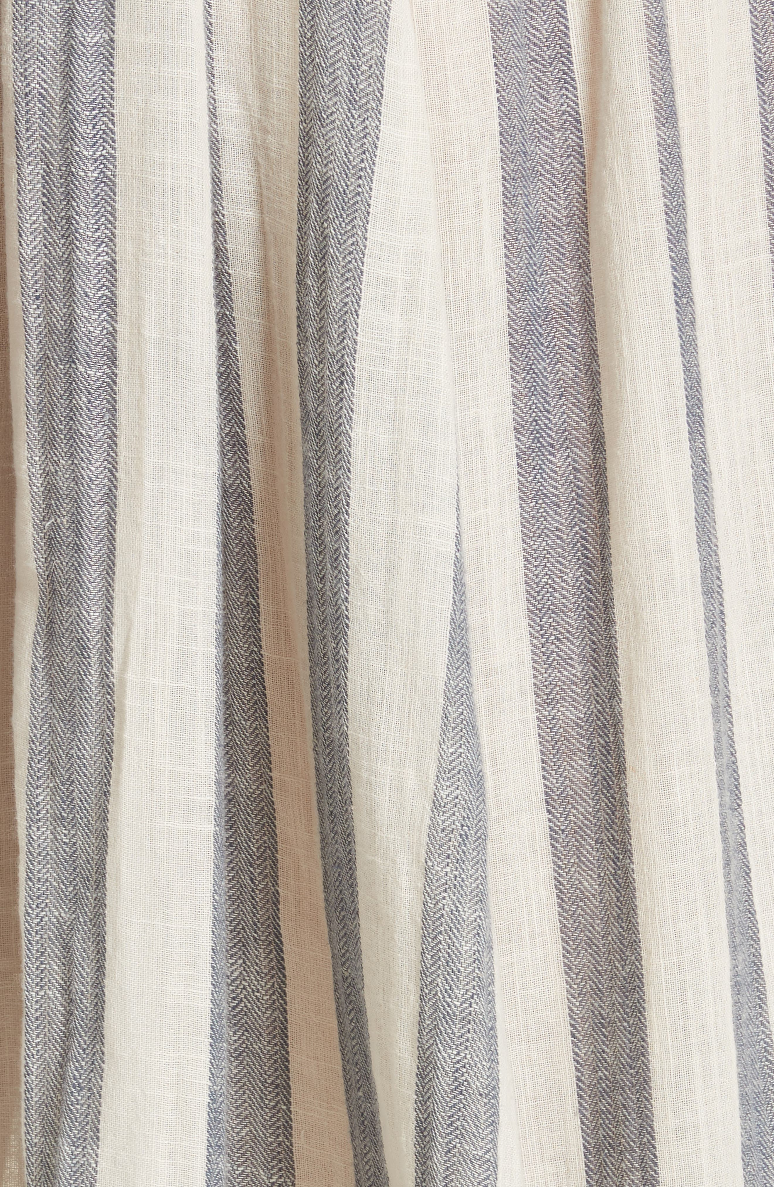 Stripe Me Up Strapless Midi Dress,                             Alternate thumbnail 5, color,                             400