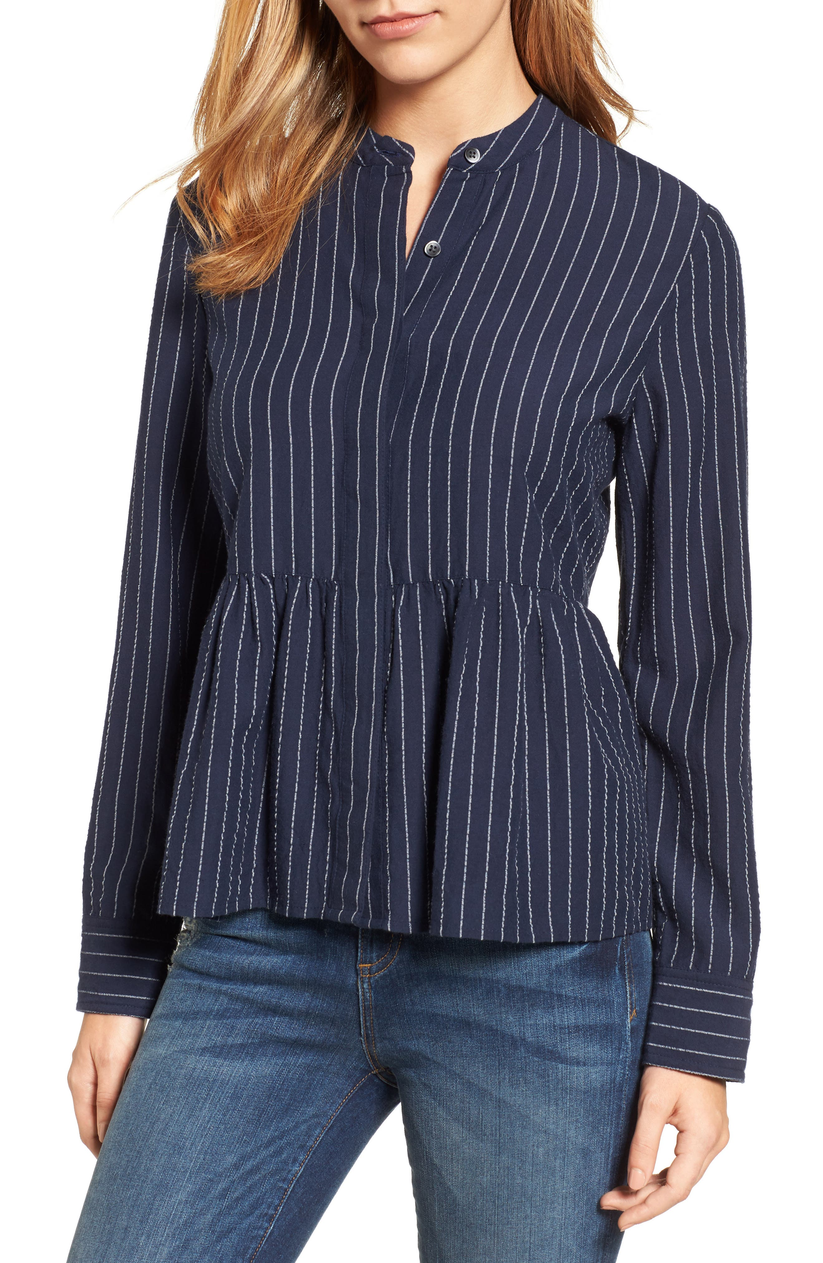 Peplum Shirt,                         Main,                         color, 410